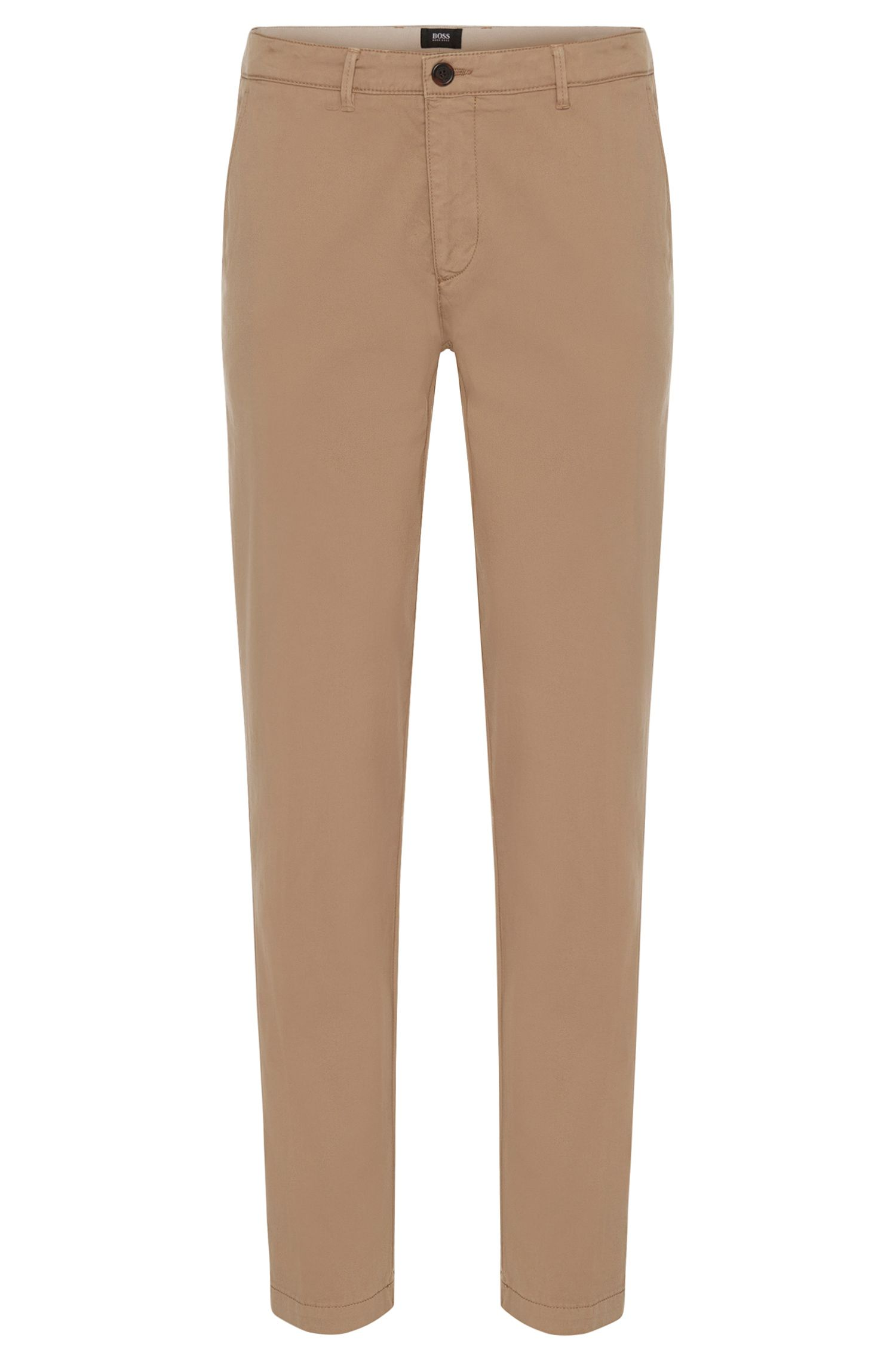 Chino regular fit in cotone elasticizzato: 'Crigan3-D'