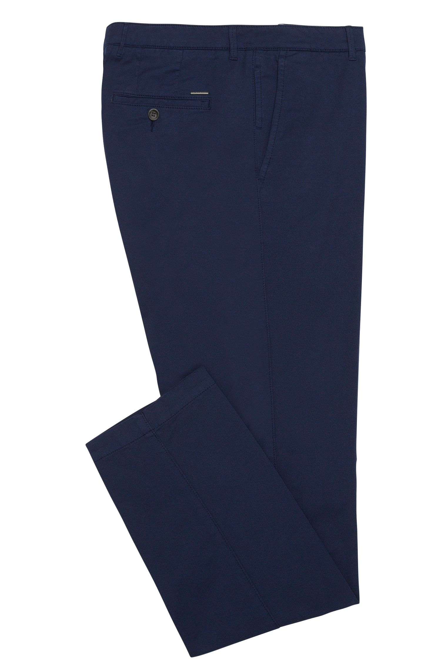 Chino regular Fit en coton extensible : « Crigan3-D »