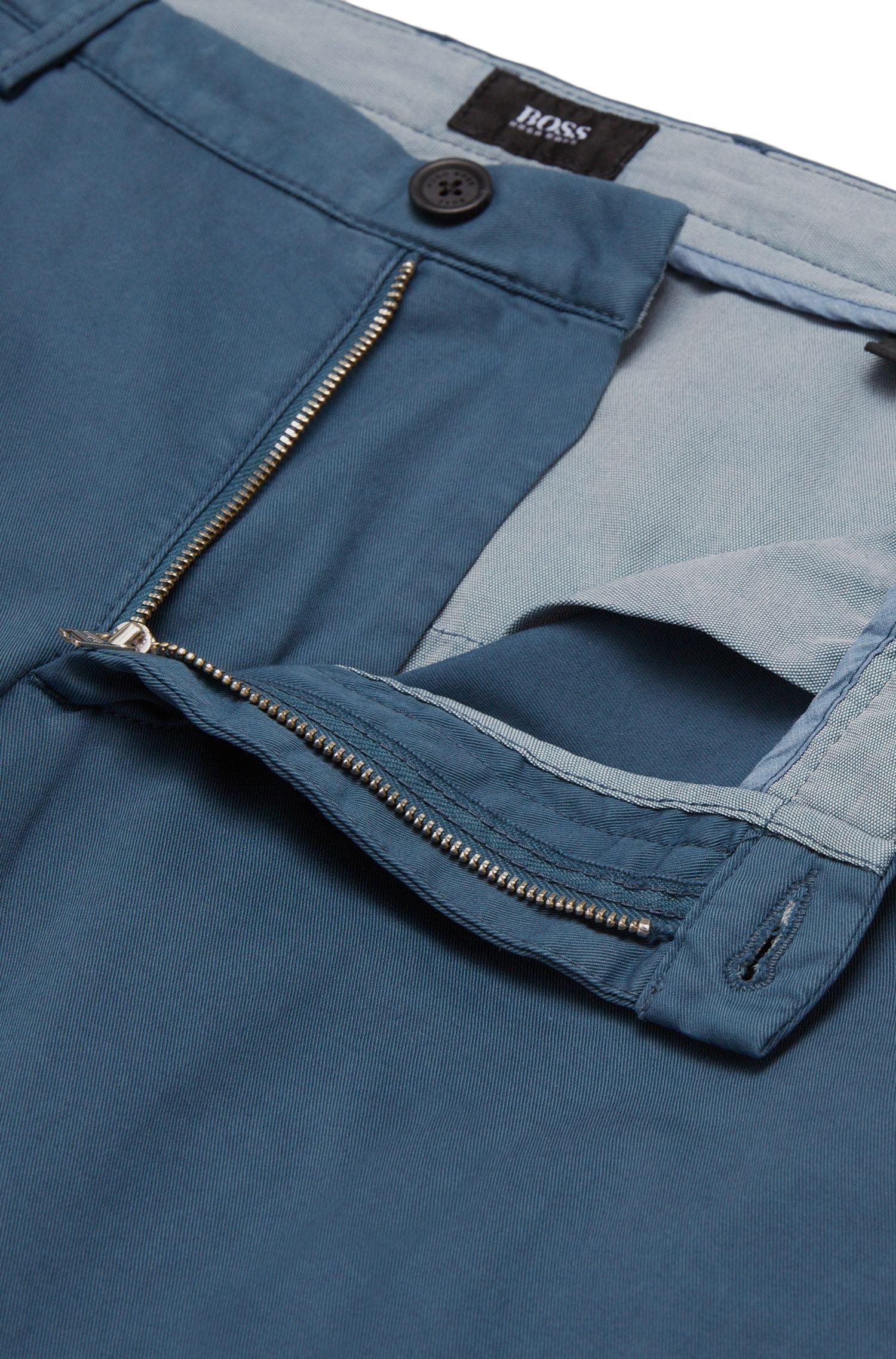 Chino uni Slim Fit en coton stretch: «Rice3-D»
