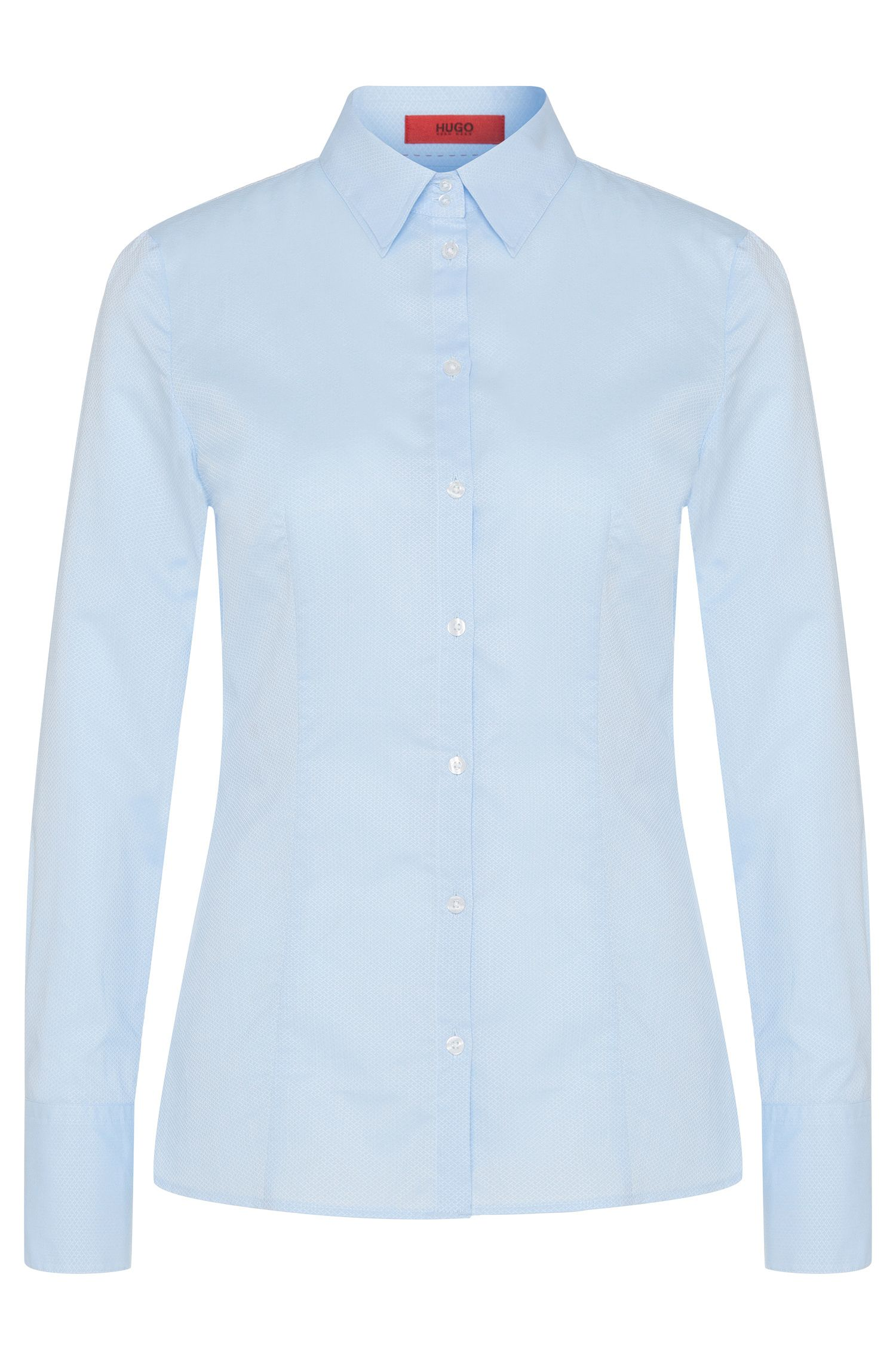 Shirt-style blouse in cotton with wide cuffs: 'Etrixe1'
