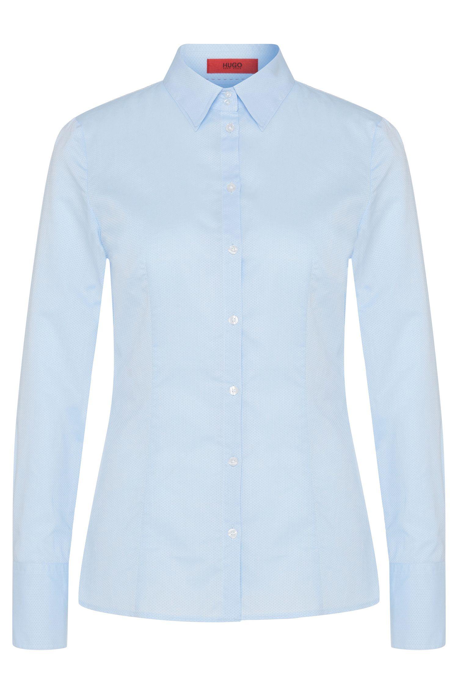 Hemdbluse aus Baumwolle mit breiten Manschetten: 'Etrixe1'