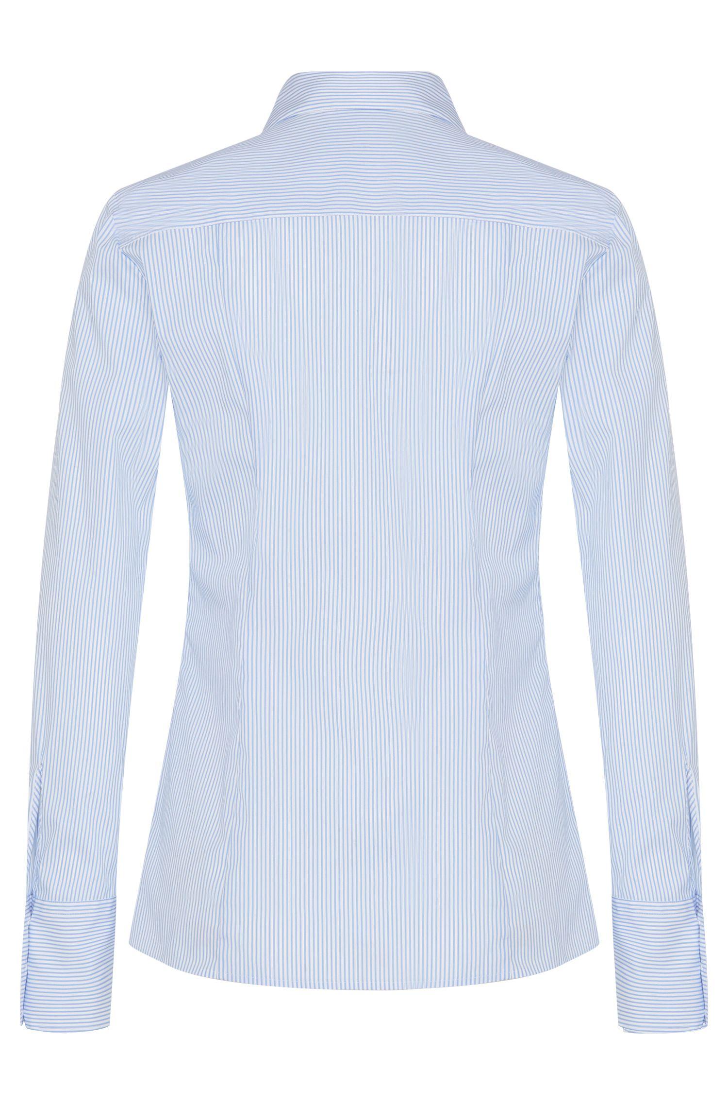 Gestreepte overhemdblouse van een katoenmix: 'Etrixe1'
