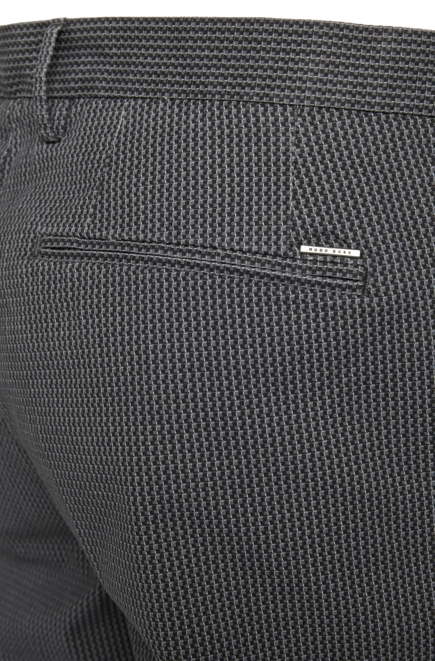 Gemusterte Slim-Fit Chino aus Stretch-Baumwolle: 'Kaito3-W'