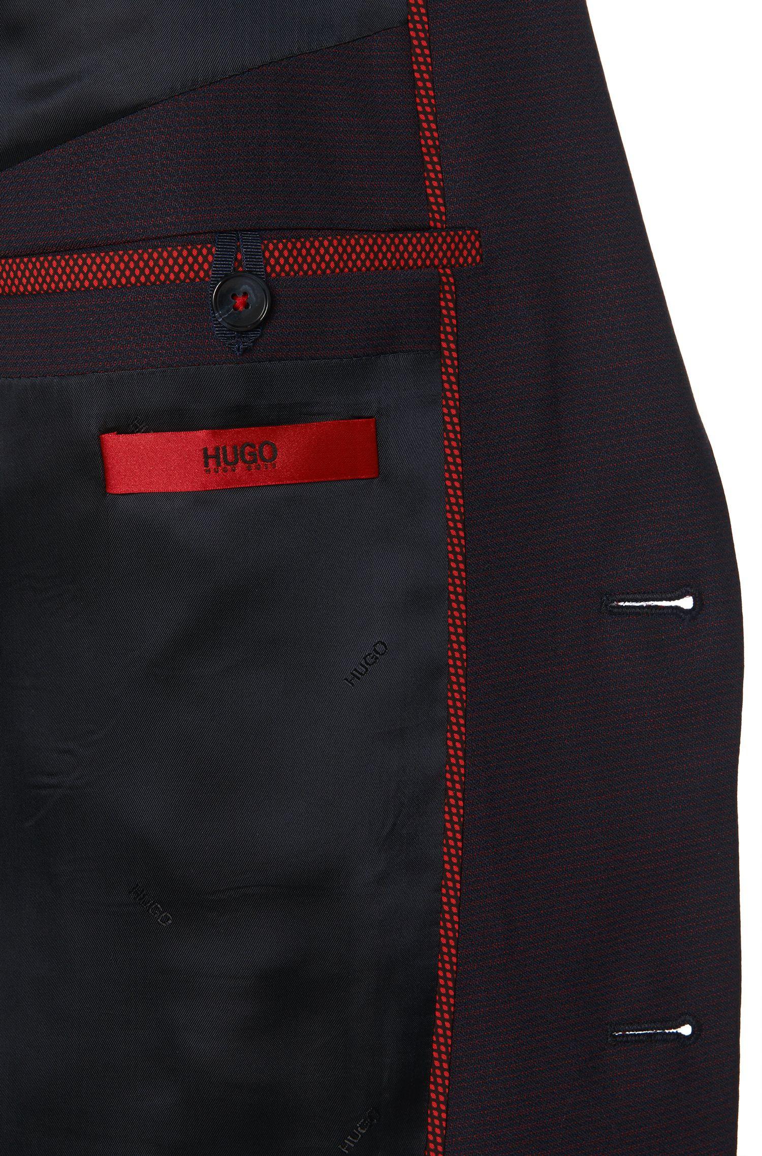 Costume Extra Slim Fit en laine vierge à motif: «Adris4/Heibo3»