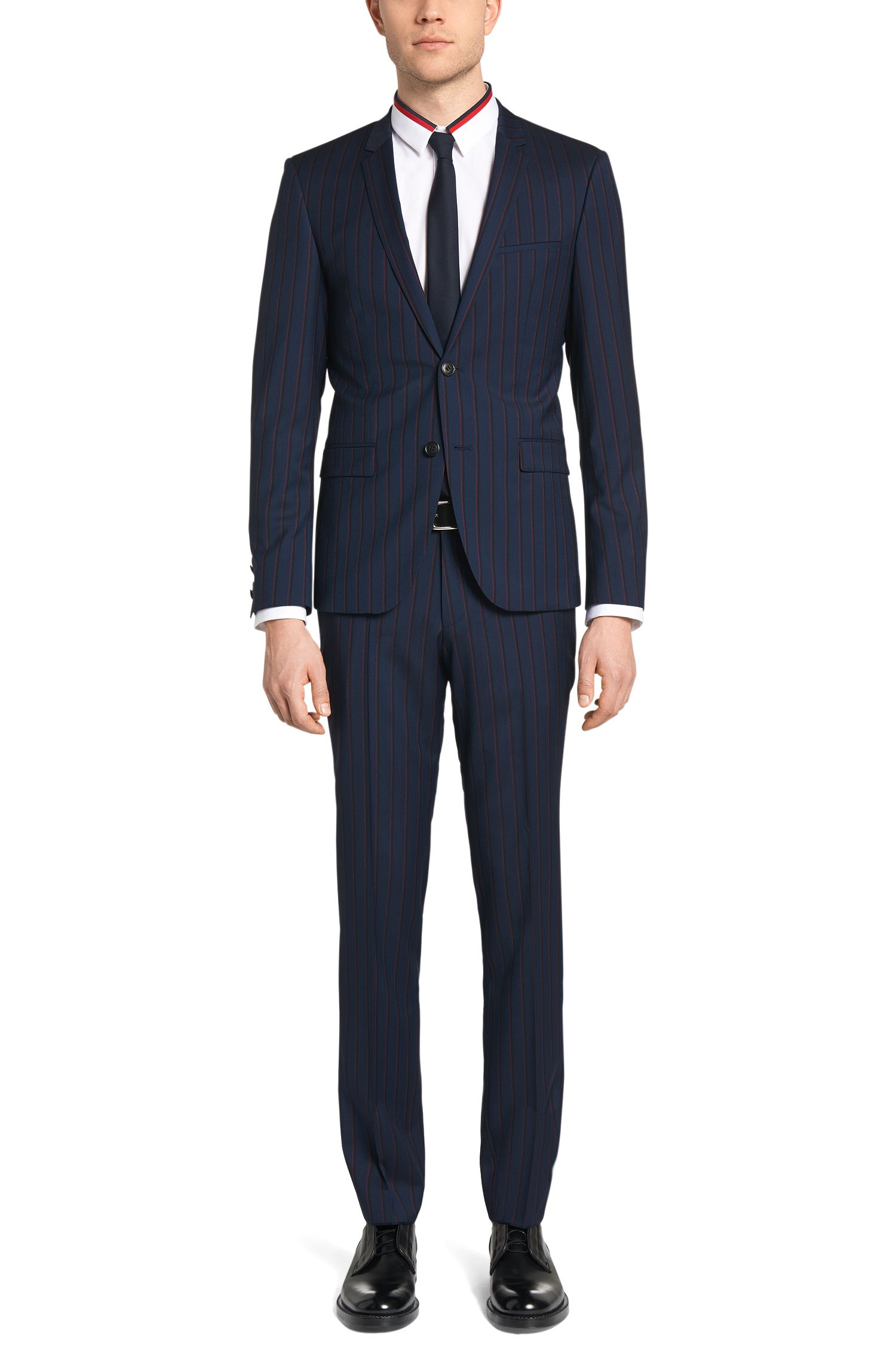 Extra Slim-Fit Anzug aus reiner Schurwolle: 'Adris4/Heibo3'