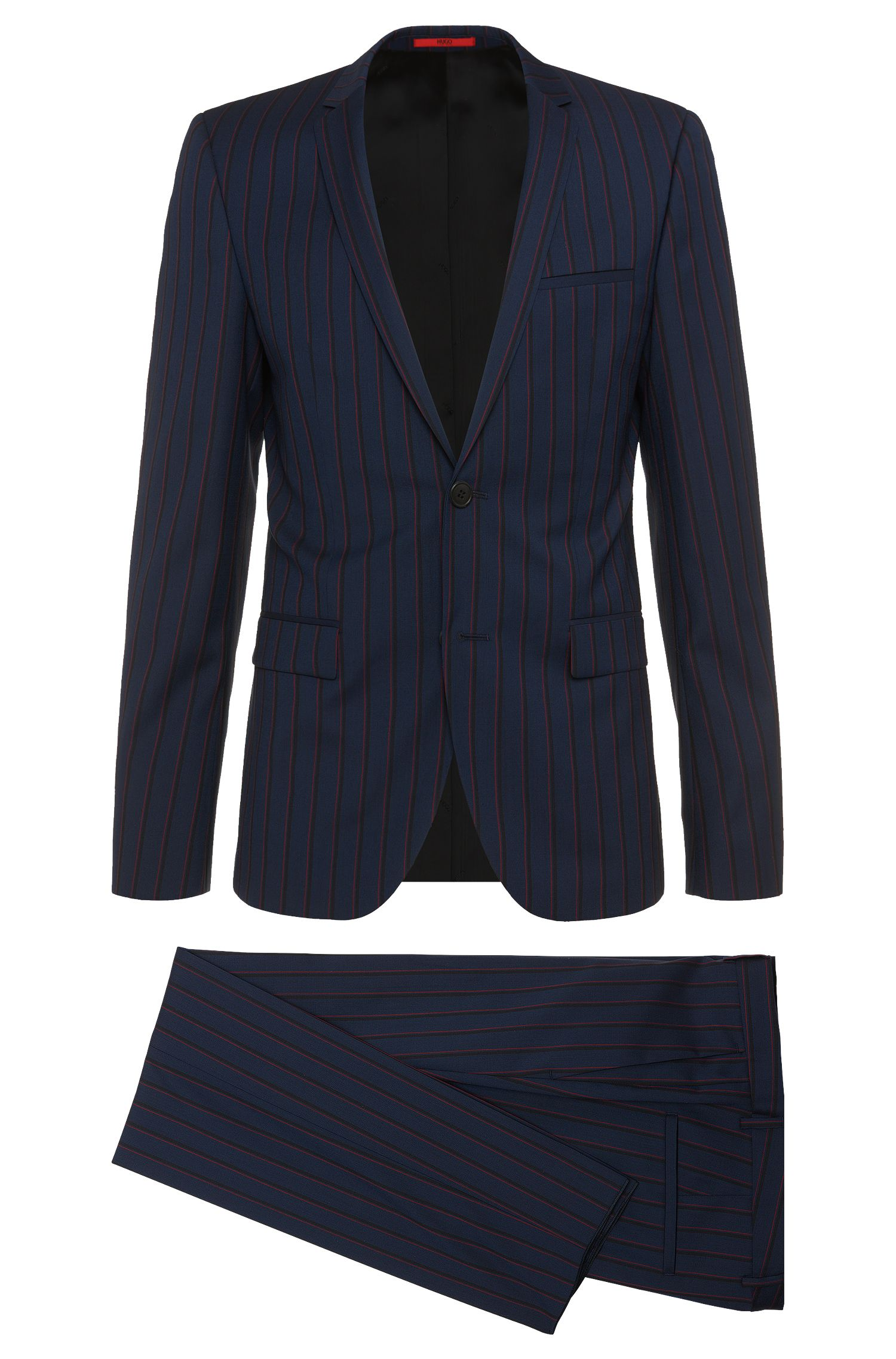 Extra-slim-fit suit in pure new wool: 'Adris4/Heibo3'