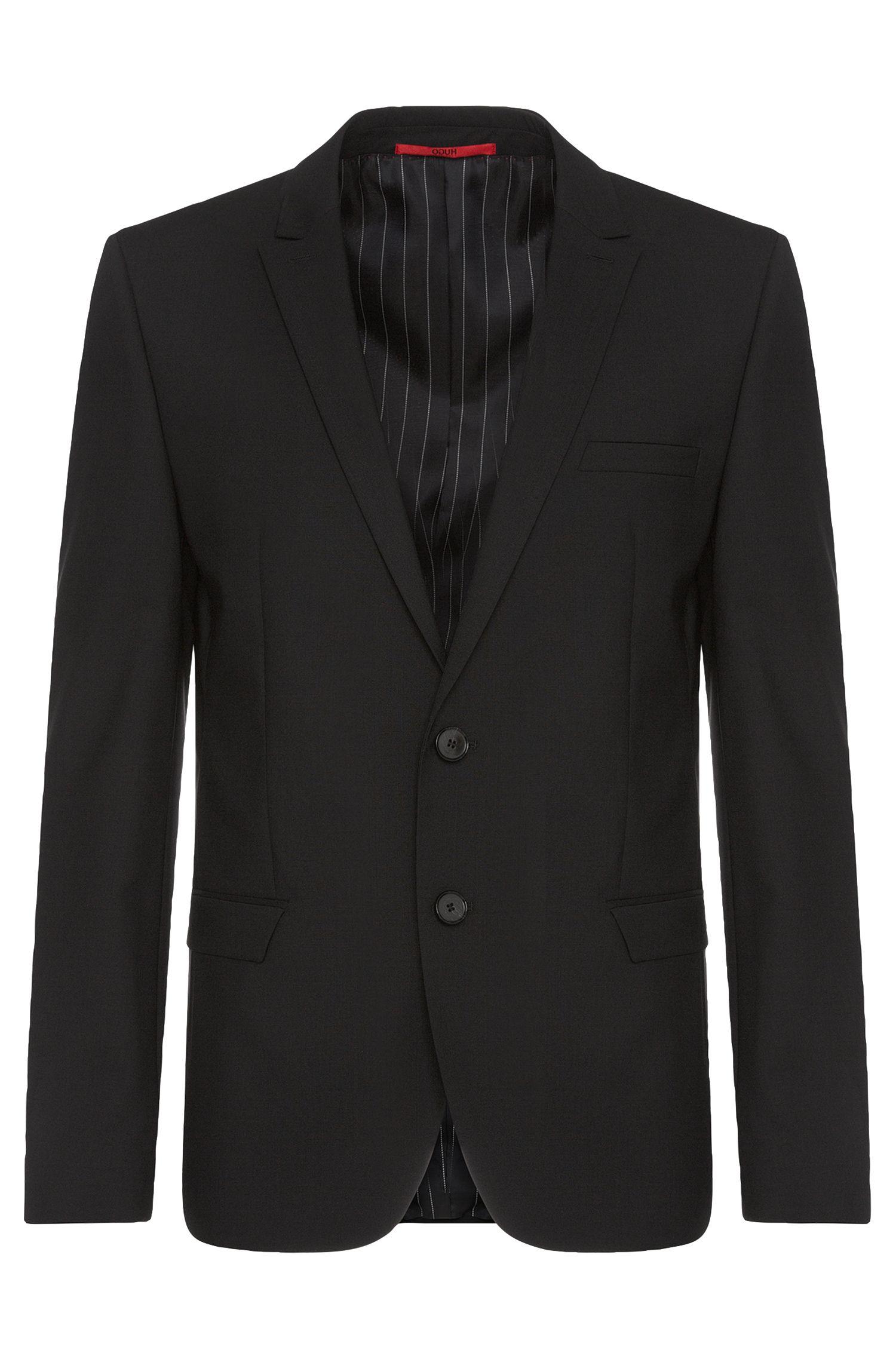 Unifarbener Slim-Fit Anzug aus Stretch-Schurwolle: 'Adan/Hallins'