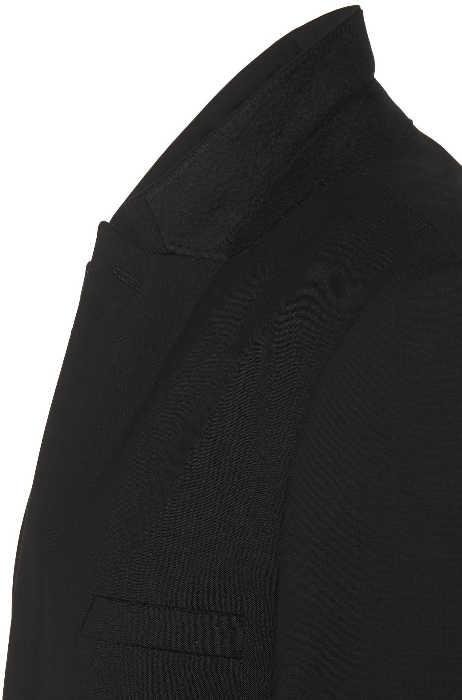 Costume Slim Fit uni en laine vierge stretch: «Adan/Hallins»