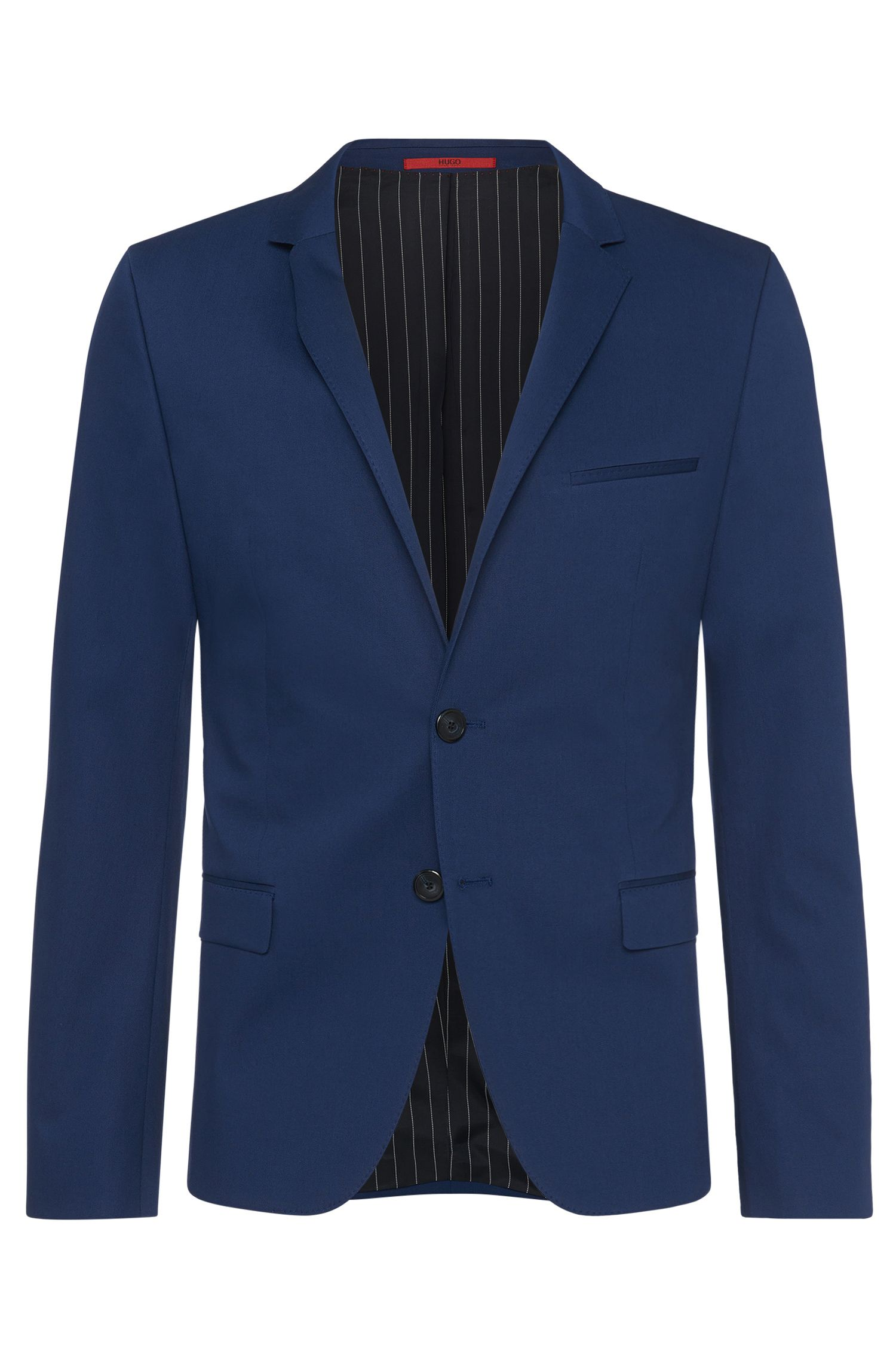 Extra-slim-fit jacket in stretch cotton blend: 'Arti'