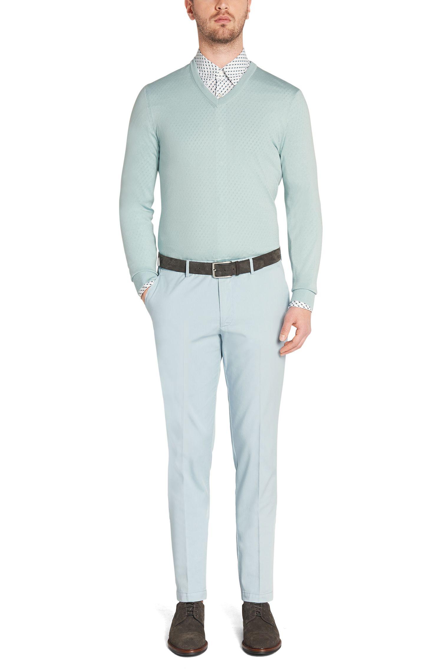 Chemise Slim Fit à motif en coton: «Rodney_25»