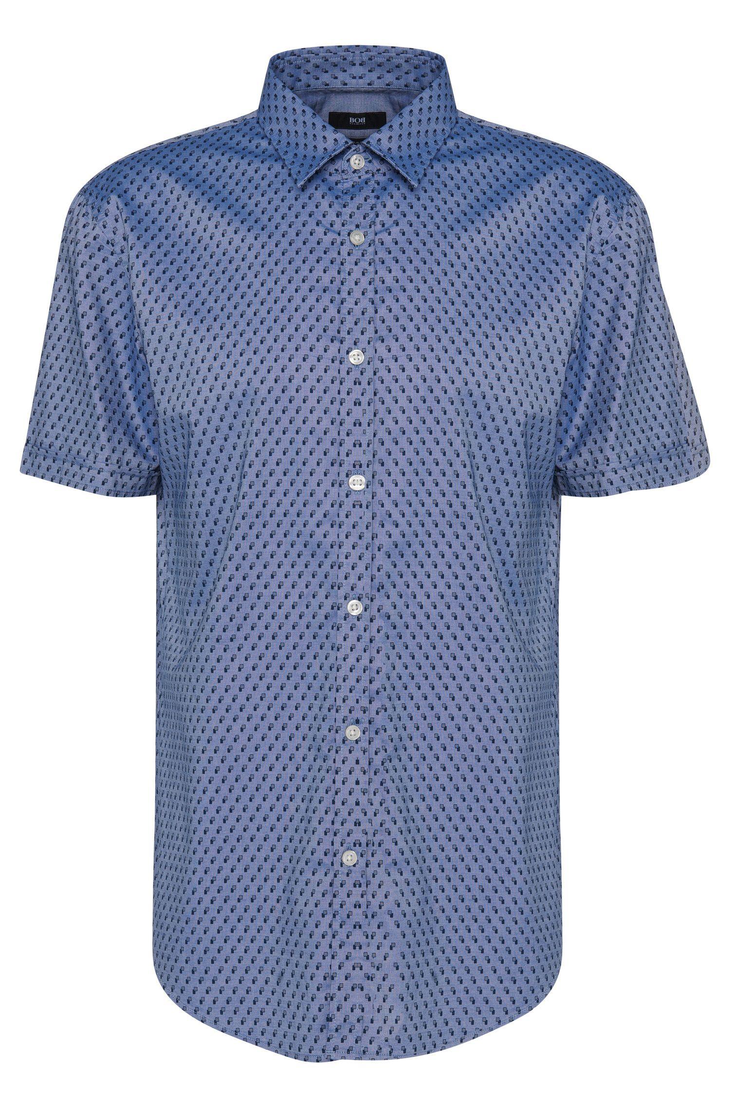Slim-fit overhemd van katoen met dessin: 'Ronn_5'
