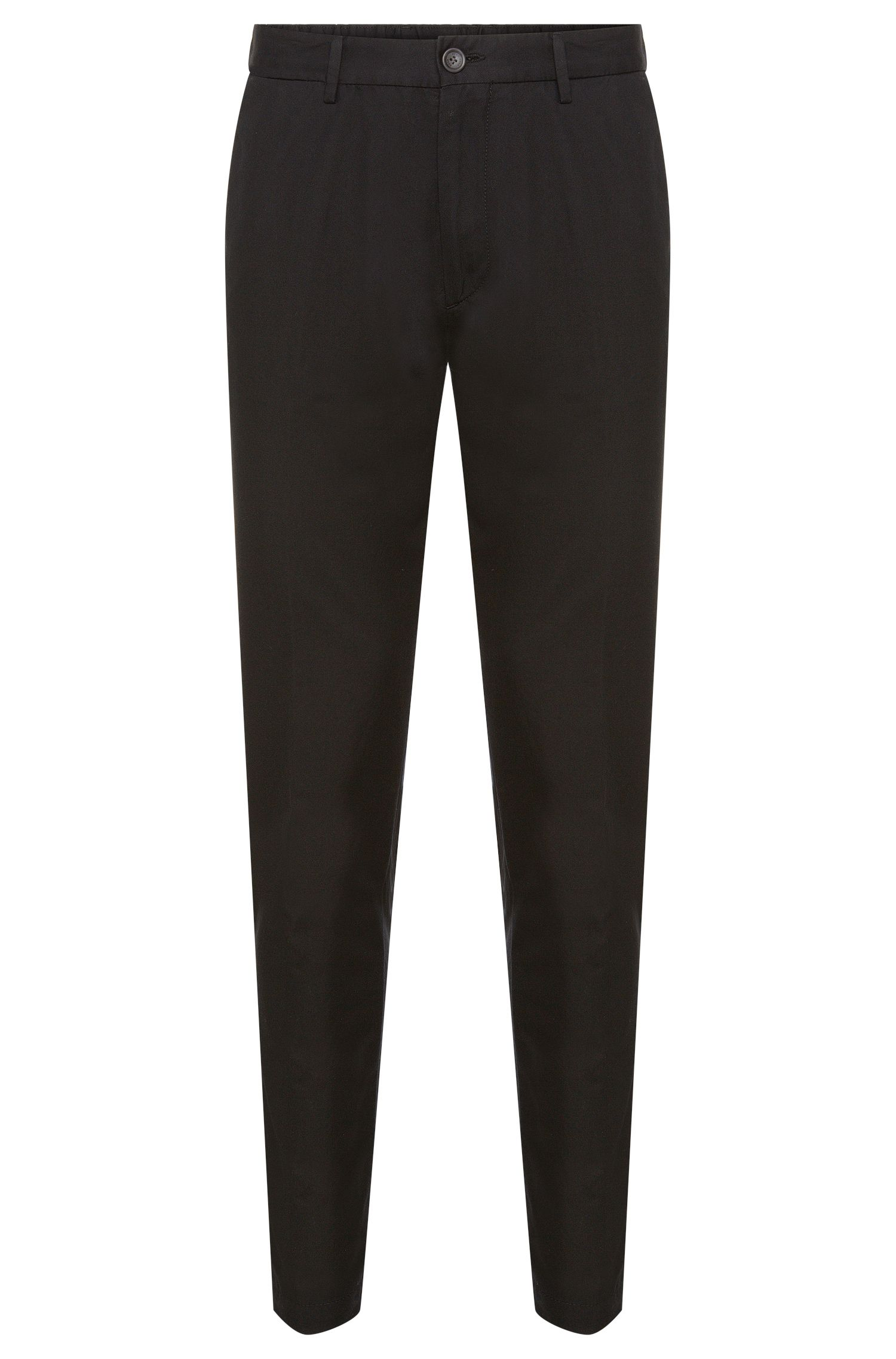 Pantaloni tapered fit in misto cotone con seta: 'Yaron-W'