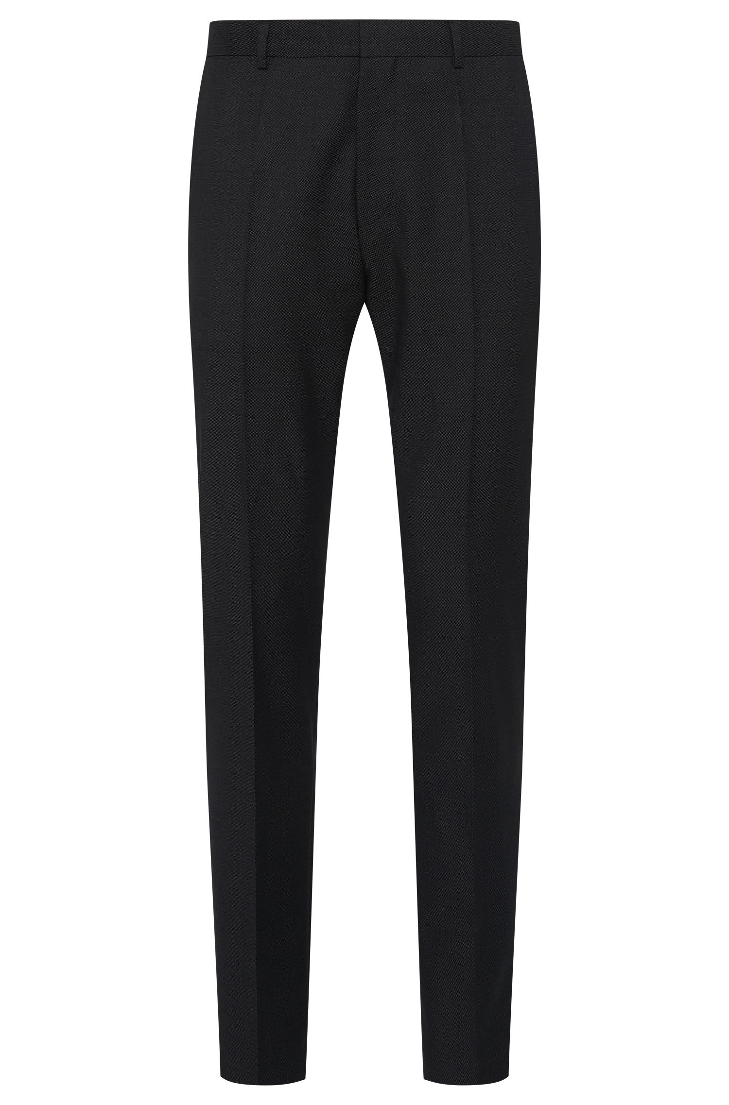 Slim-fit trousers in pure new wool: 'Hamen2'