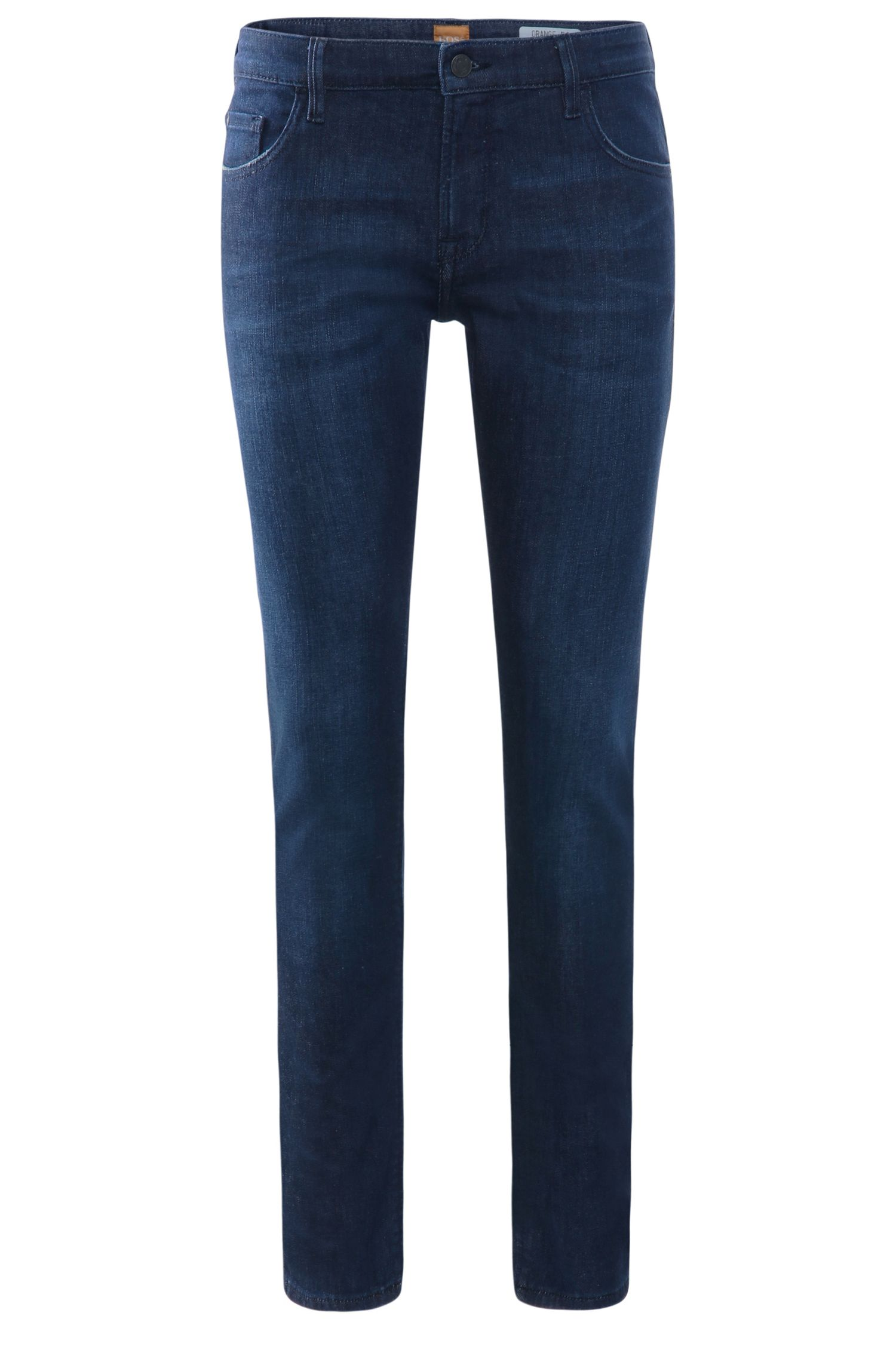 Extra slim-fit jeans in stretch cotton blend: 'Orange71'
