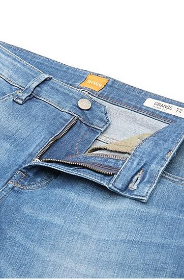 Skinny-Fit Jeans aus elastischem Baumwoll-Mix: ´Orange72`, Türkis