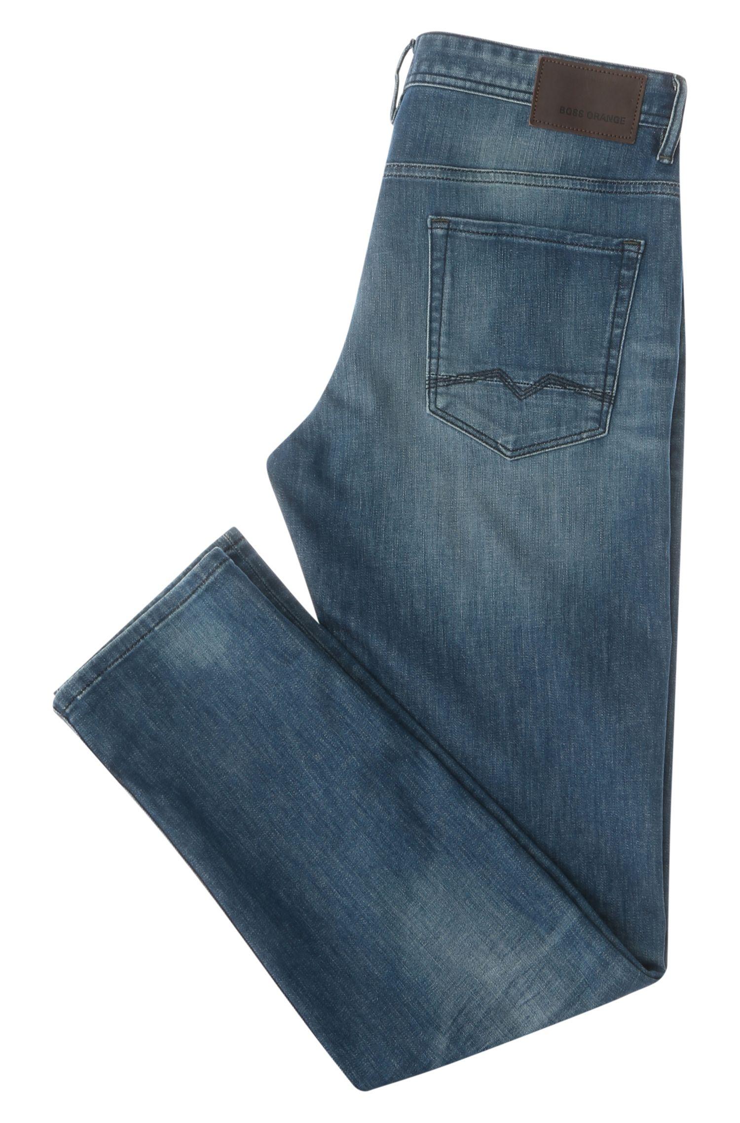 Jeans Tapered Fit en coton avec de l'élasthanne: «Orange90»