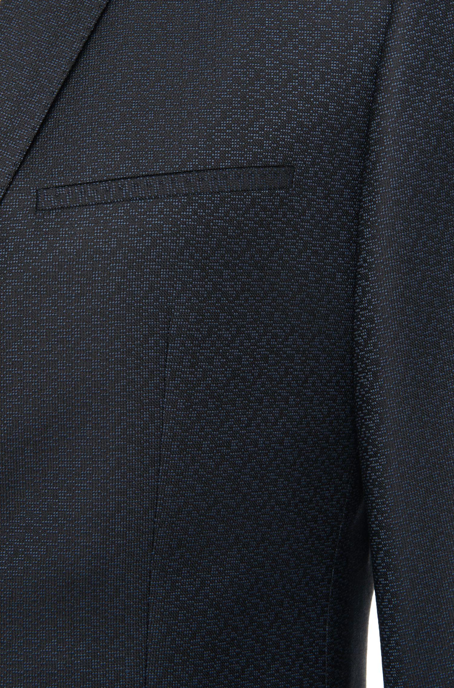 Veste de costume Slim Fit à motif en laine vierge mélangée: «Arti»