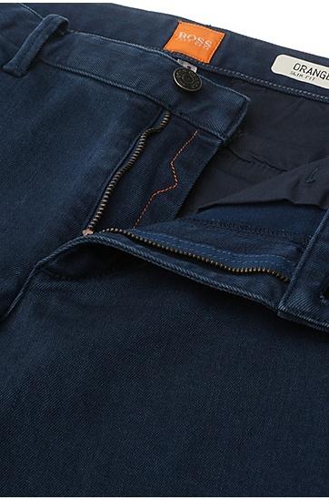 Slim-Fit Jeans aus elastischem Baumwoll-Mix: ´Orange63 Chester`, Blau