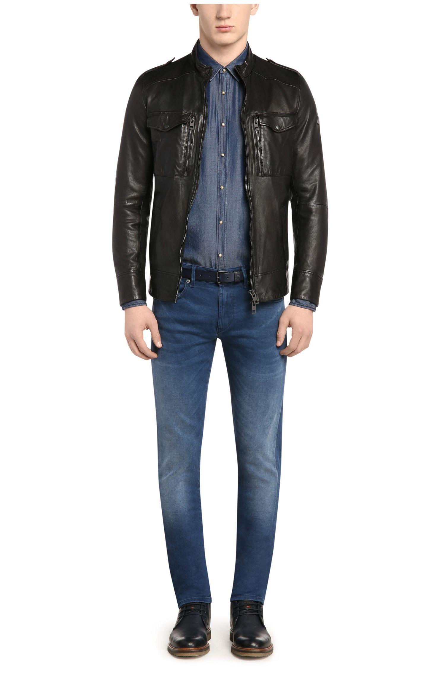Jeans Extra Slim Fit en coton stretch: «Orange72»