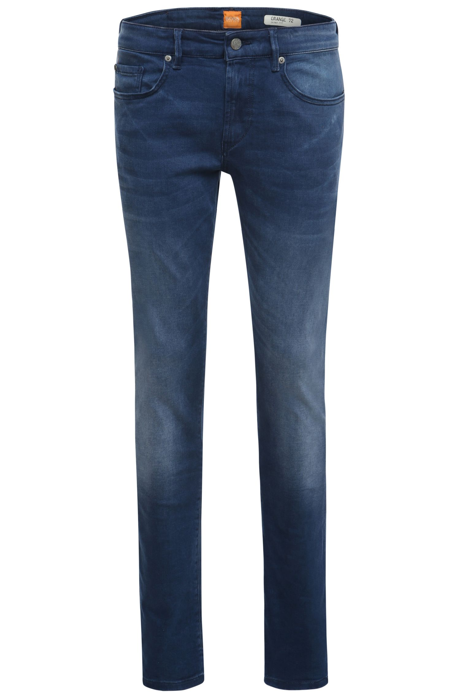 Extra-slim-fit jeans in stretch cotton: 'Orange72'
