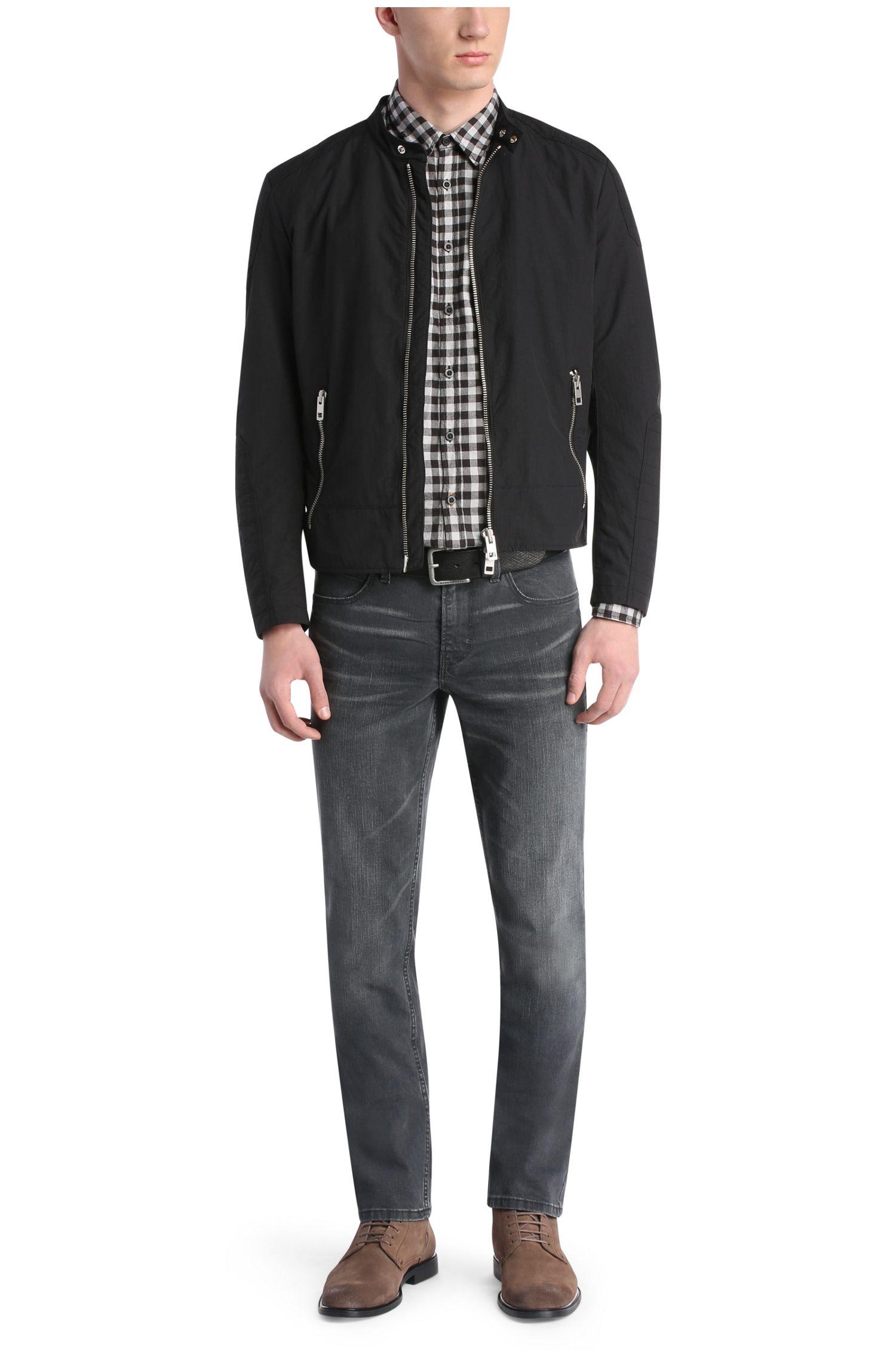 Slim-fit jeans van een katoenmix met elastaan: 'Orange63'