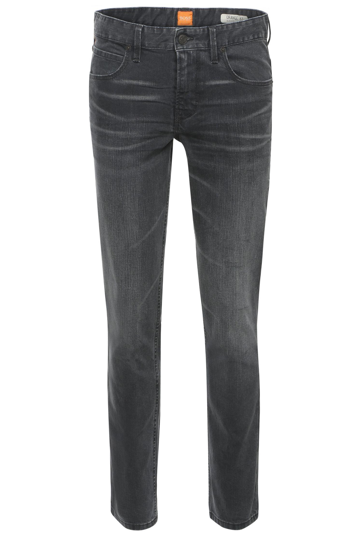 Slim-fit jeans in cotton blend with elastane: 'Orange63'