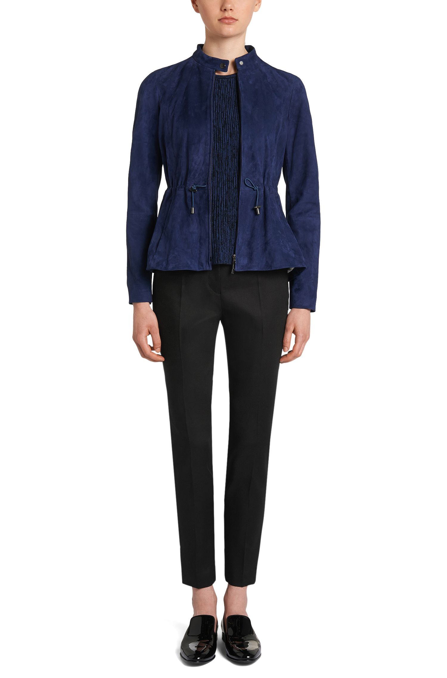 Unifarbene Hose aus Stretch-Baumwolle: 'Arima'