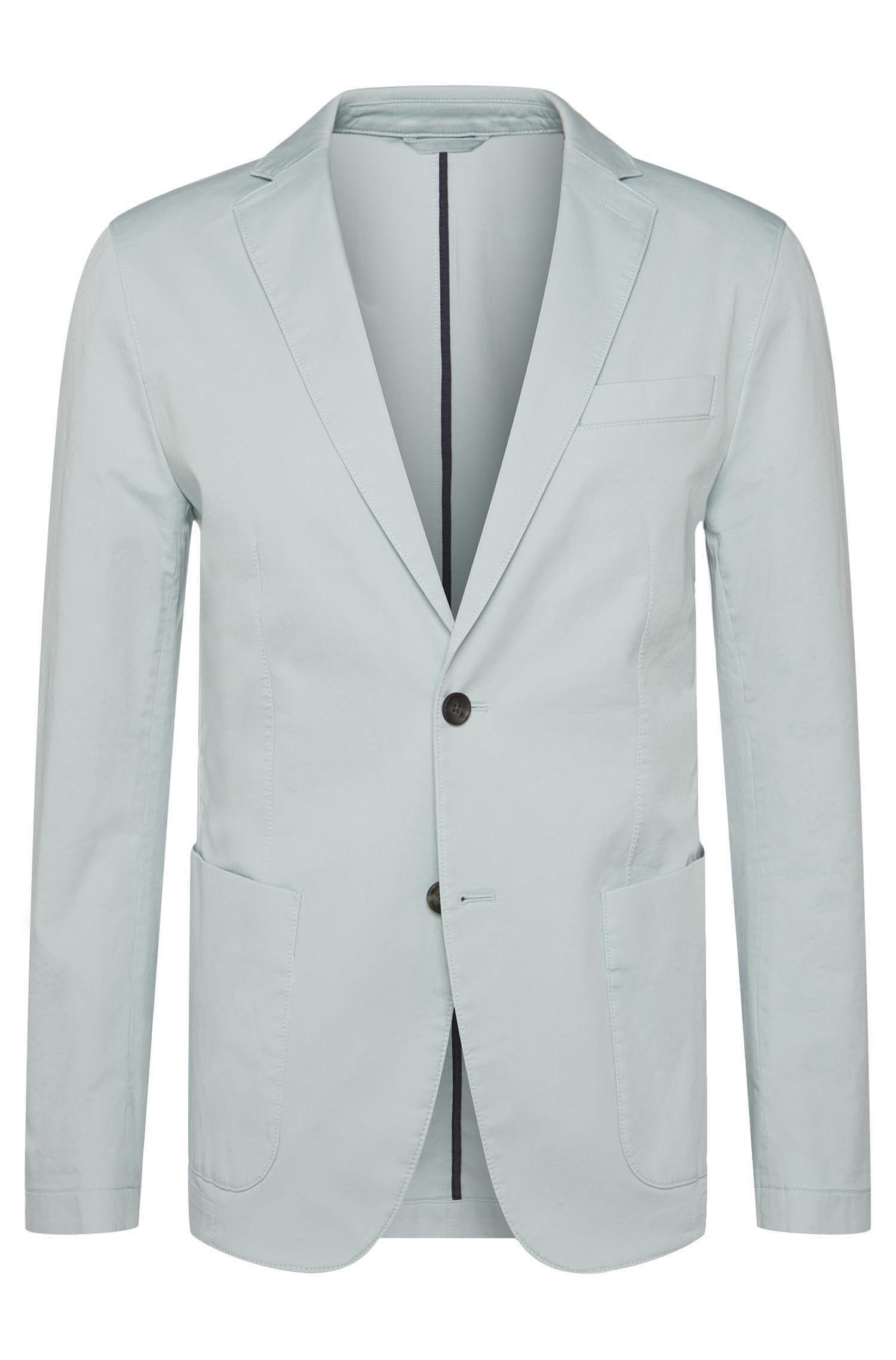 Veste de costume en coton stretch dotée de poches plaquées: «Narvik-W»