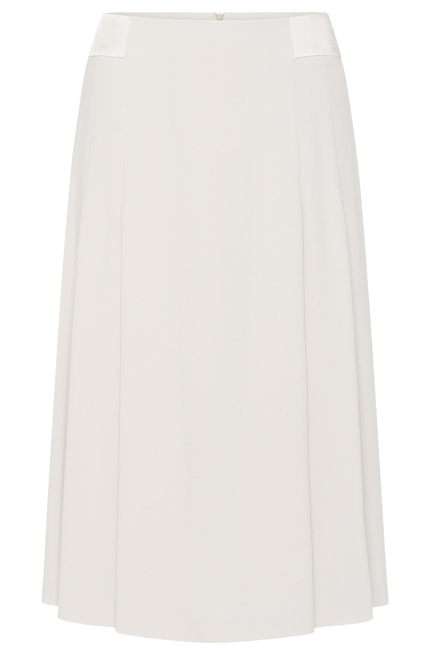 Plain-coloured midi skirt with a flared fit: 'Vibella'