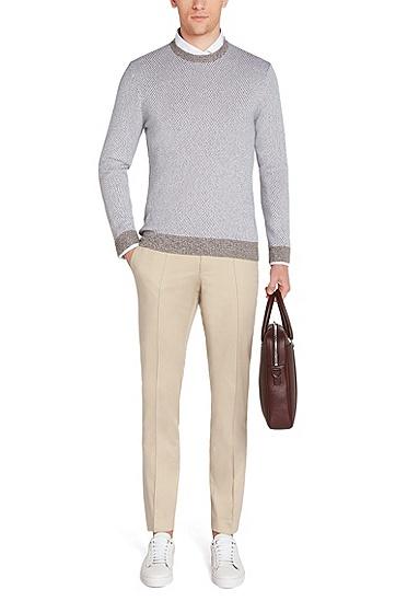 Slim-Fit Hemd aus Baumwolle: 'T-Randolph_2', Weiß