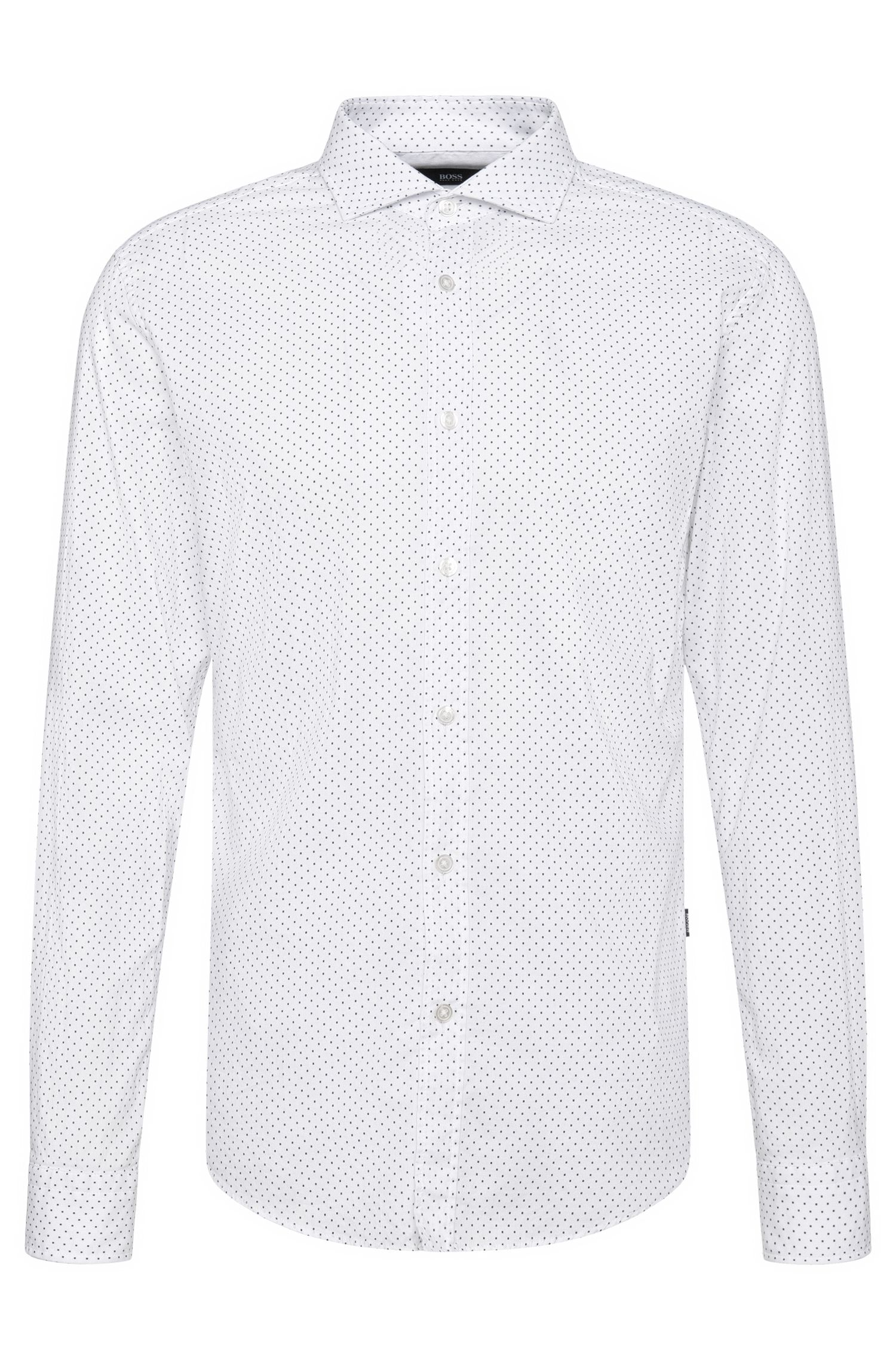 Patterned slim-fit shirt in cotton: 'Ridley_5'