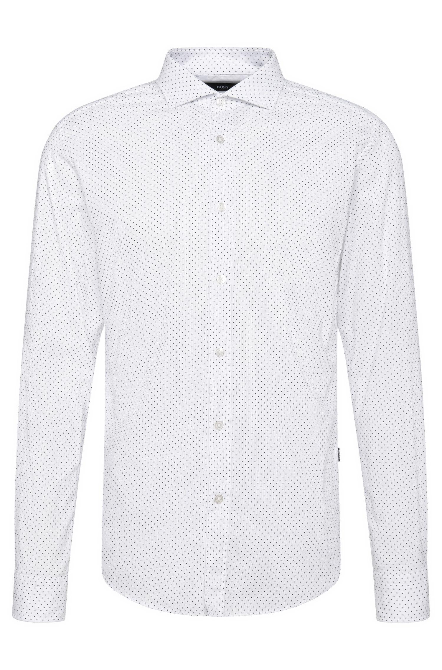 Camisa slim fit estampada en algodón: 'Ridley_5'