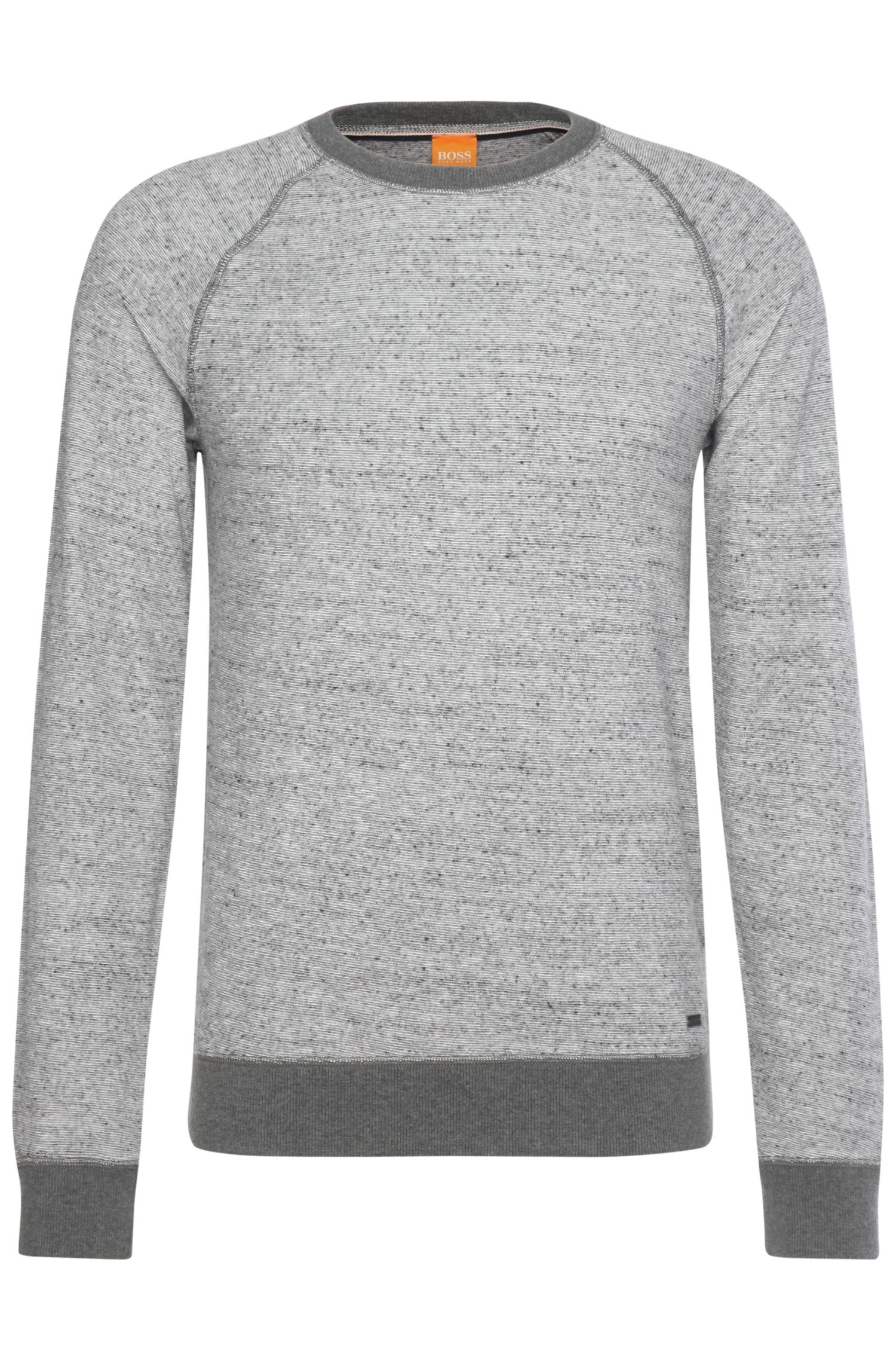 Melierter Sweater aus Baumwoll-Mix: ´Willie`