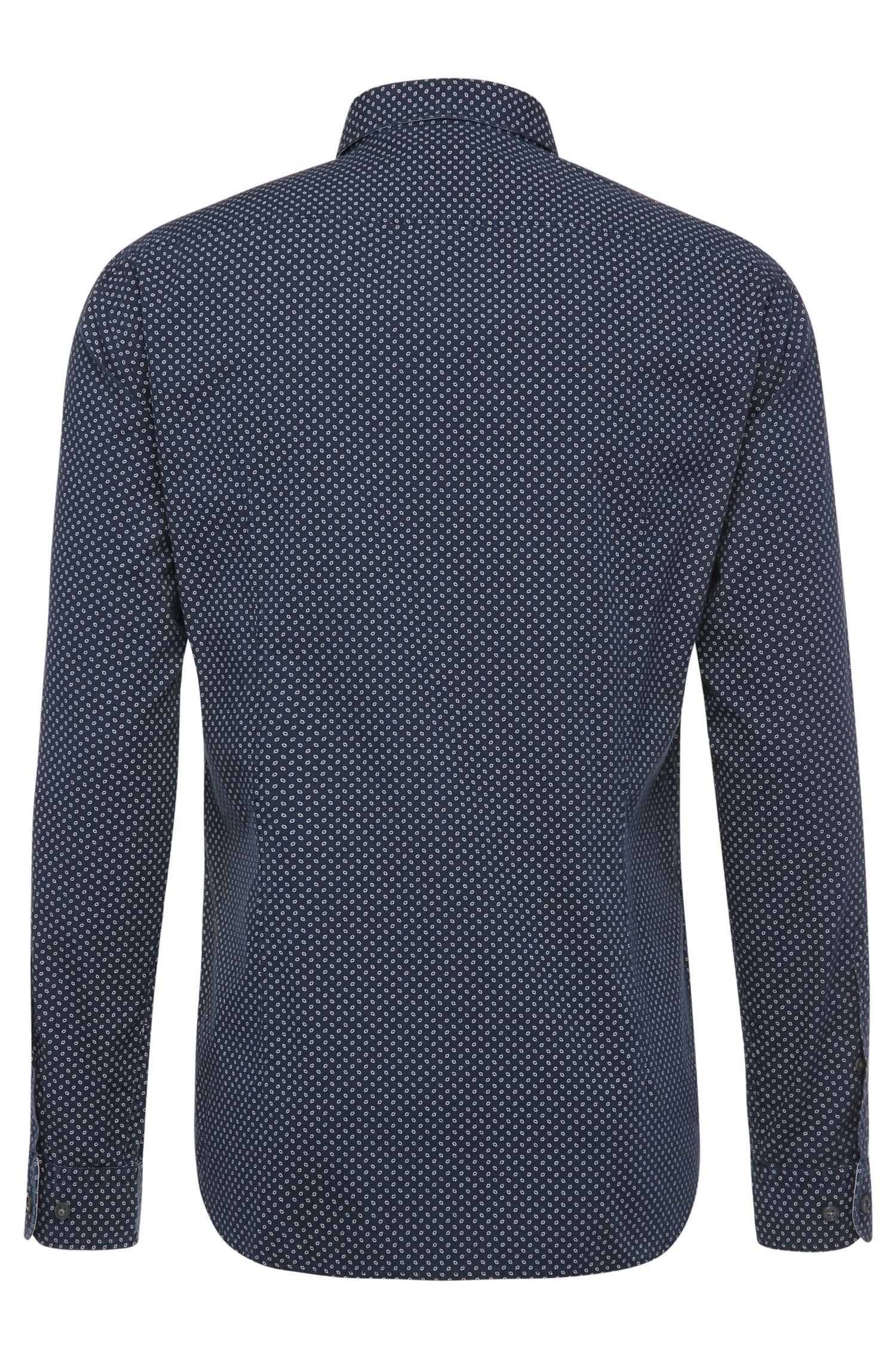Regular-Fit Hemd aus gemusterter Baumwolle: ´C-Briar`