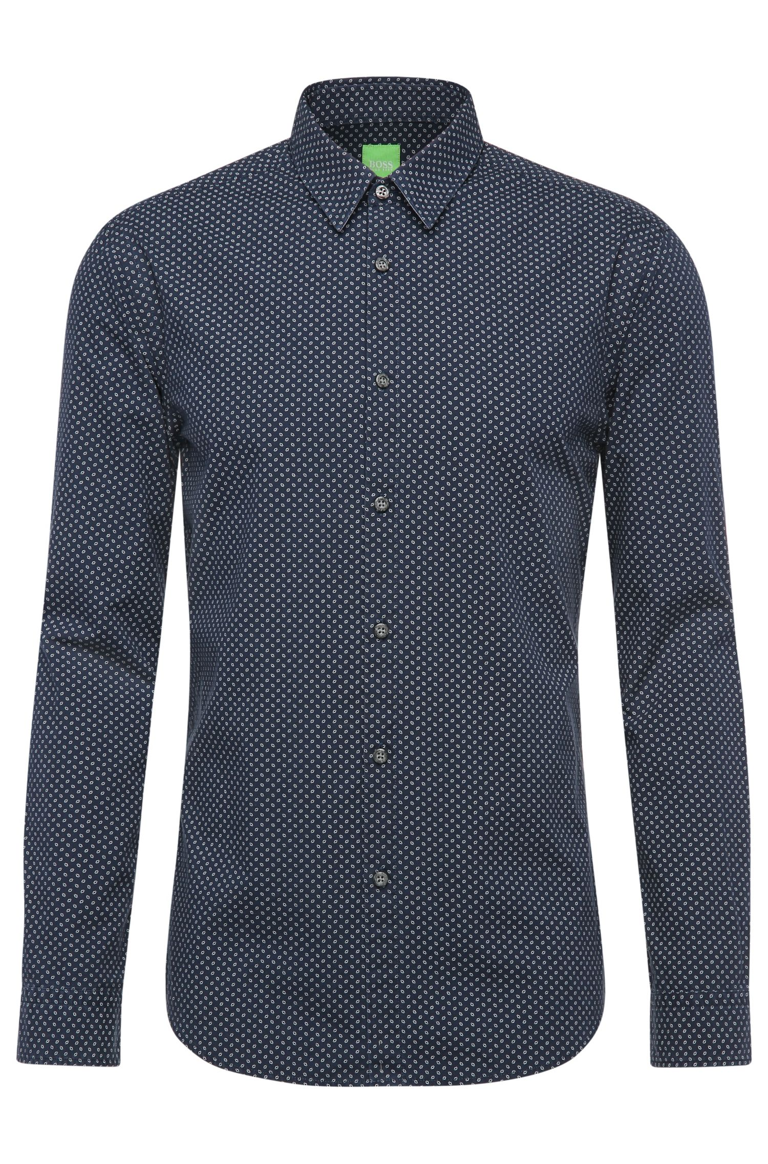 Regular-fit shirt in patterned cotton: 'C-Briar'