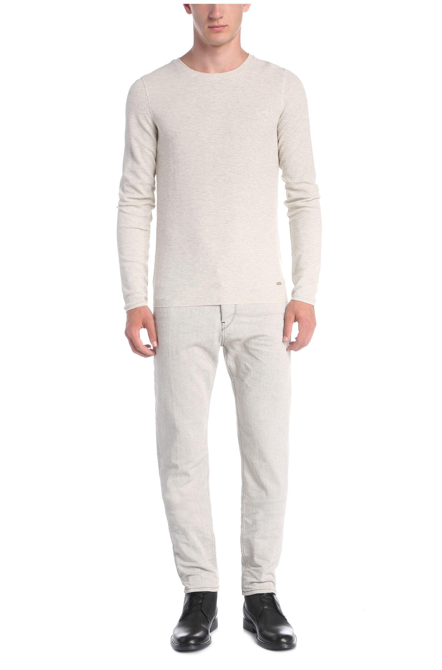 T-shirt à manches longues Slim Fit présentant une structure gaufrée: «Terris 1»