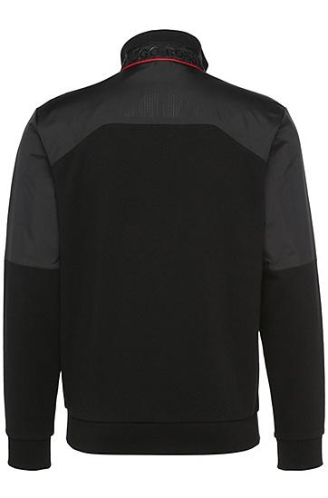 Regular-Fit Sweatshirt-Jacke aus Baumwolle: ´Skavon`, Schwarz