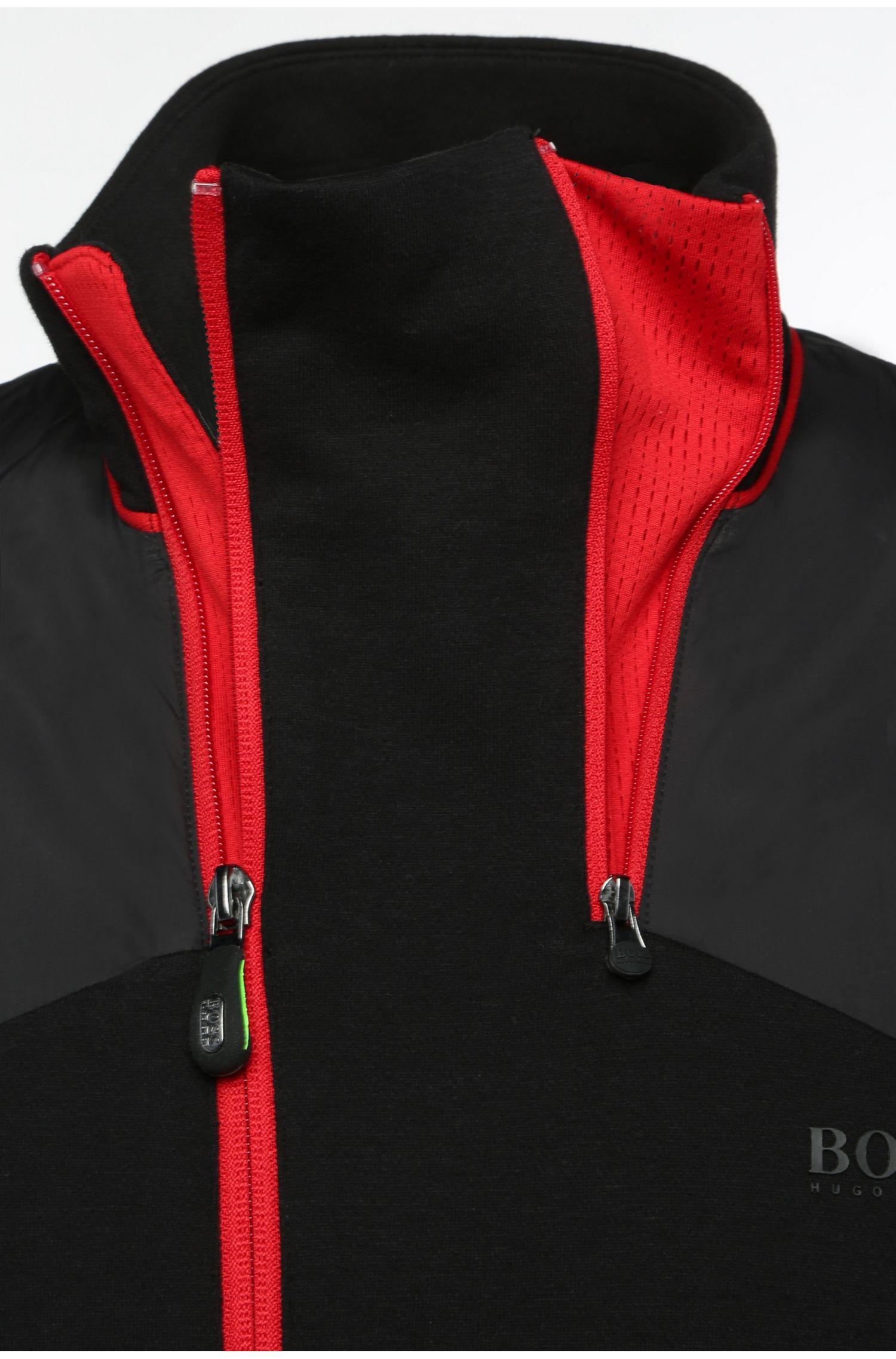 Regular-Fit Sweatshirt-Jacke aus Baumwolle: ´Skavon`