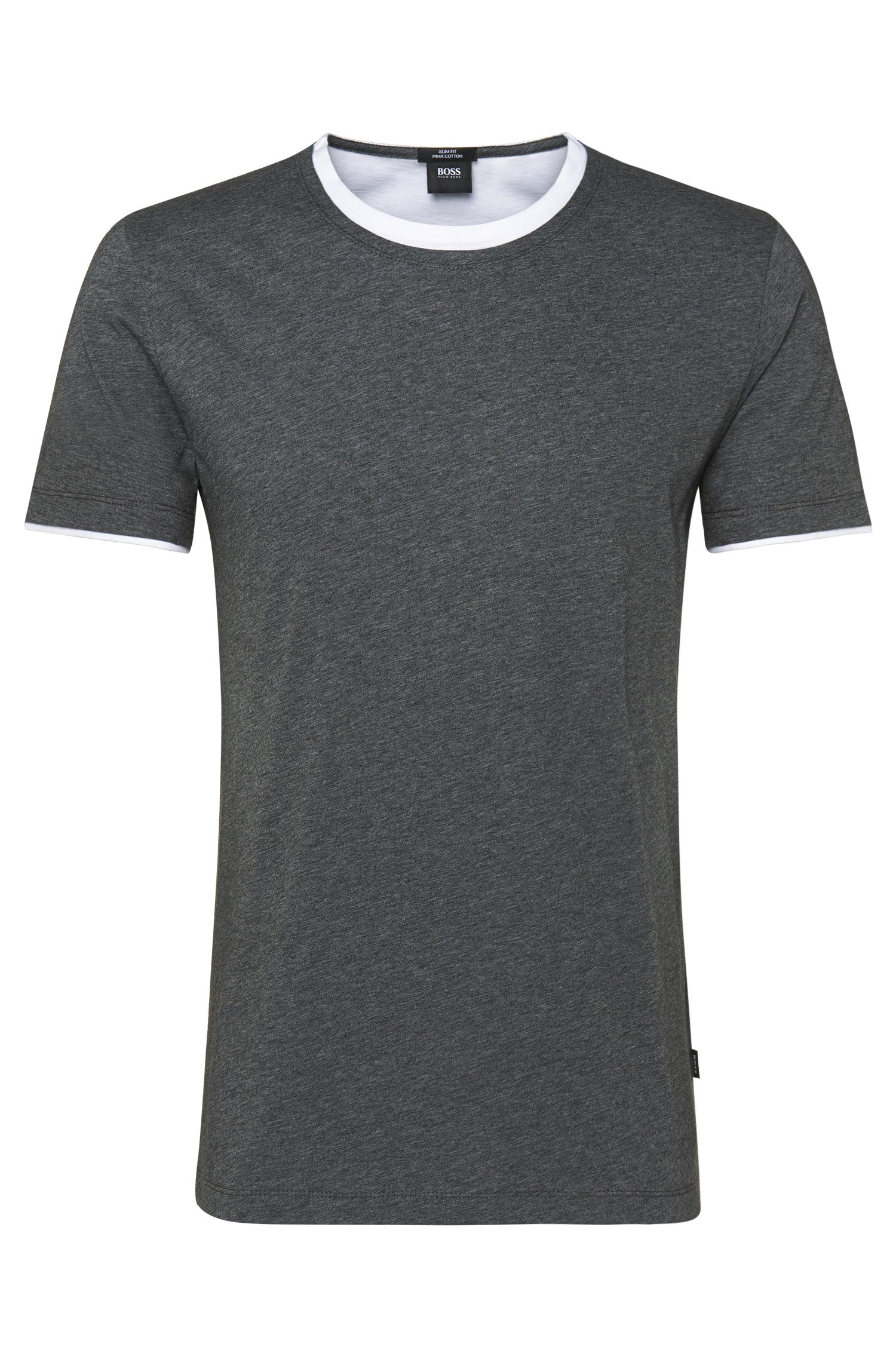T-shirt slim fit in cotone: 'Tessler 19'