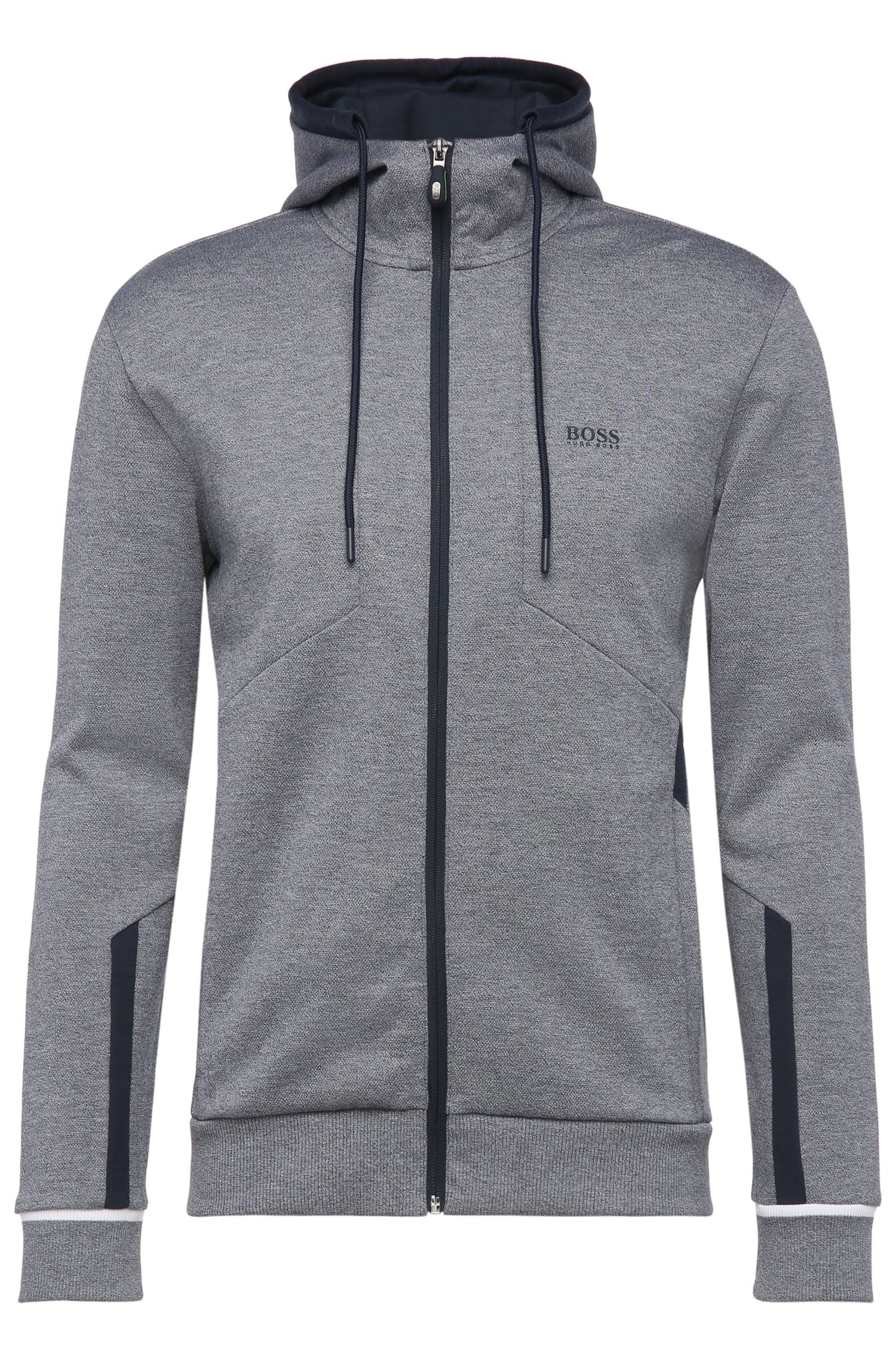 Blouson sweat Regular Fit en coton mélangé à capuche : « Selnio »