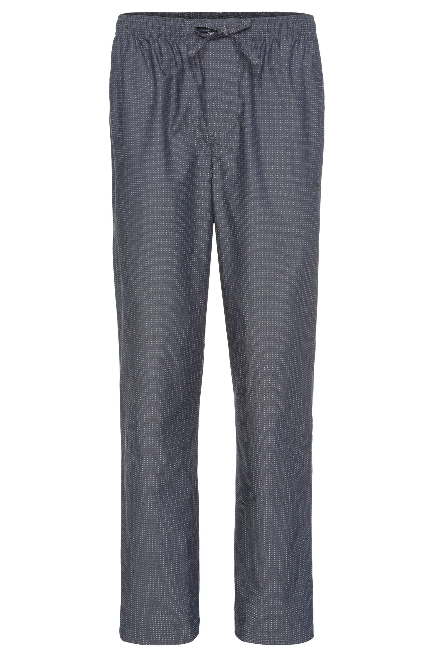 Finely patterned pyjama bottoms in cotton: 'Long Pant CW 2'