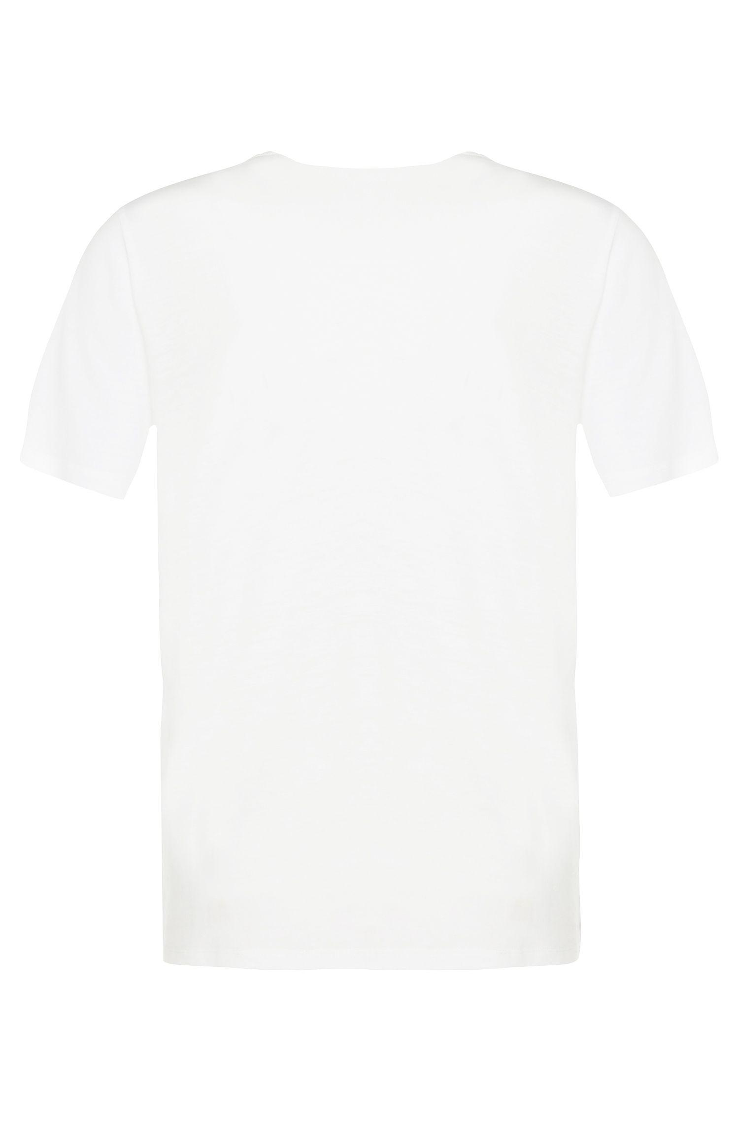 Unifarbenes T-Shirt mit Seidenbesatz: 'Emesia'