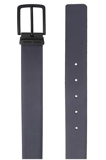 Wende-Gürtel aus Leder: ´Toby_Or35_ps`, Dunkelblau