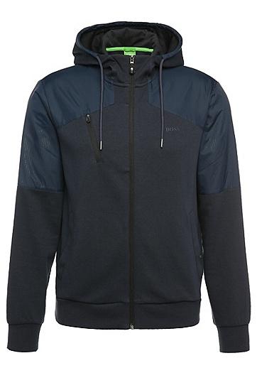 Sweatshirt-Jacke aus Baumwolle mit Kapuze: ´Sivon`, Dunkelblau