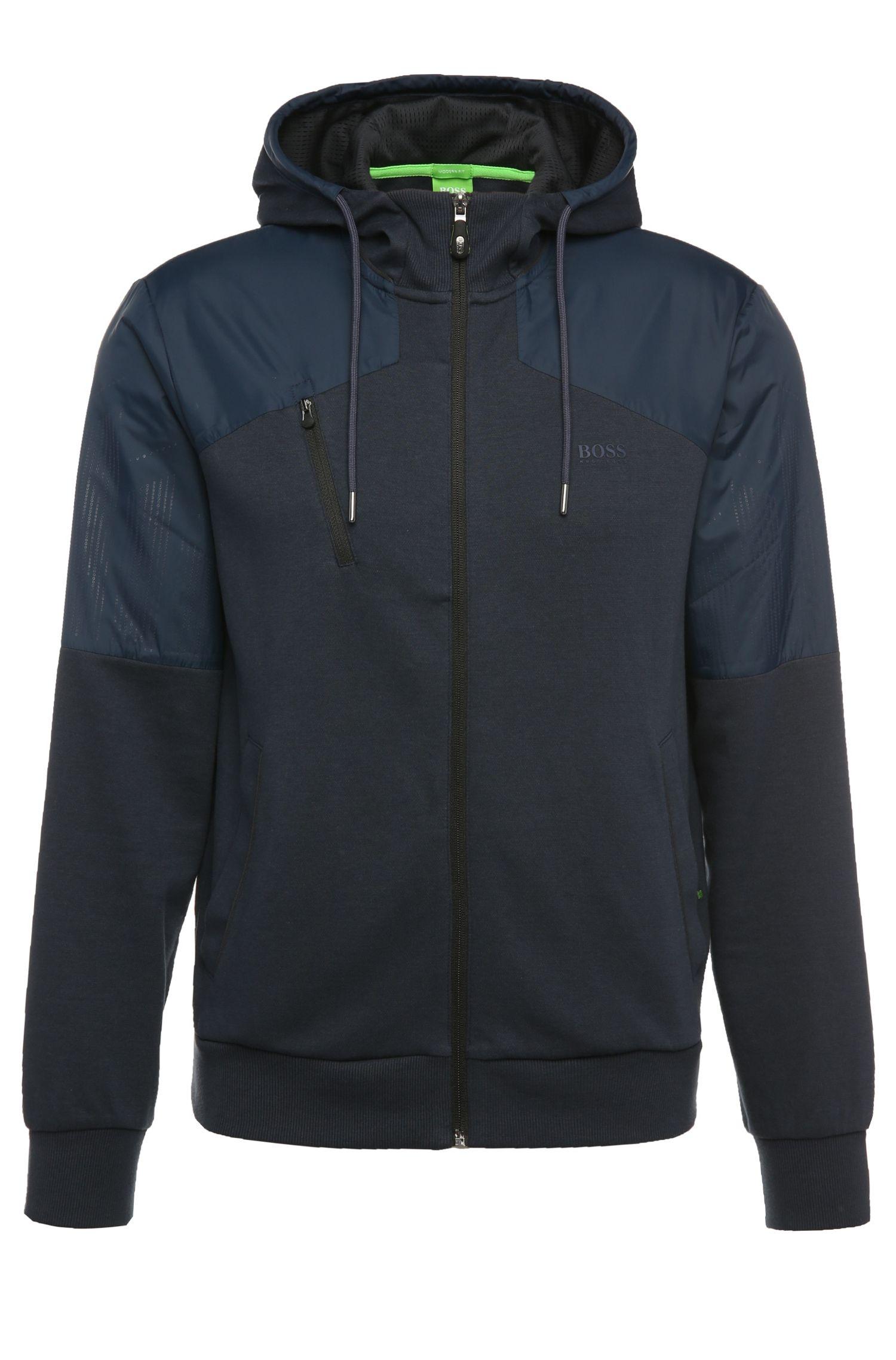 Sweatshirt-Jacke aus Baumwolle mit Kapuze: ´Sivon`
