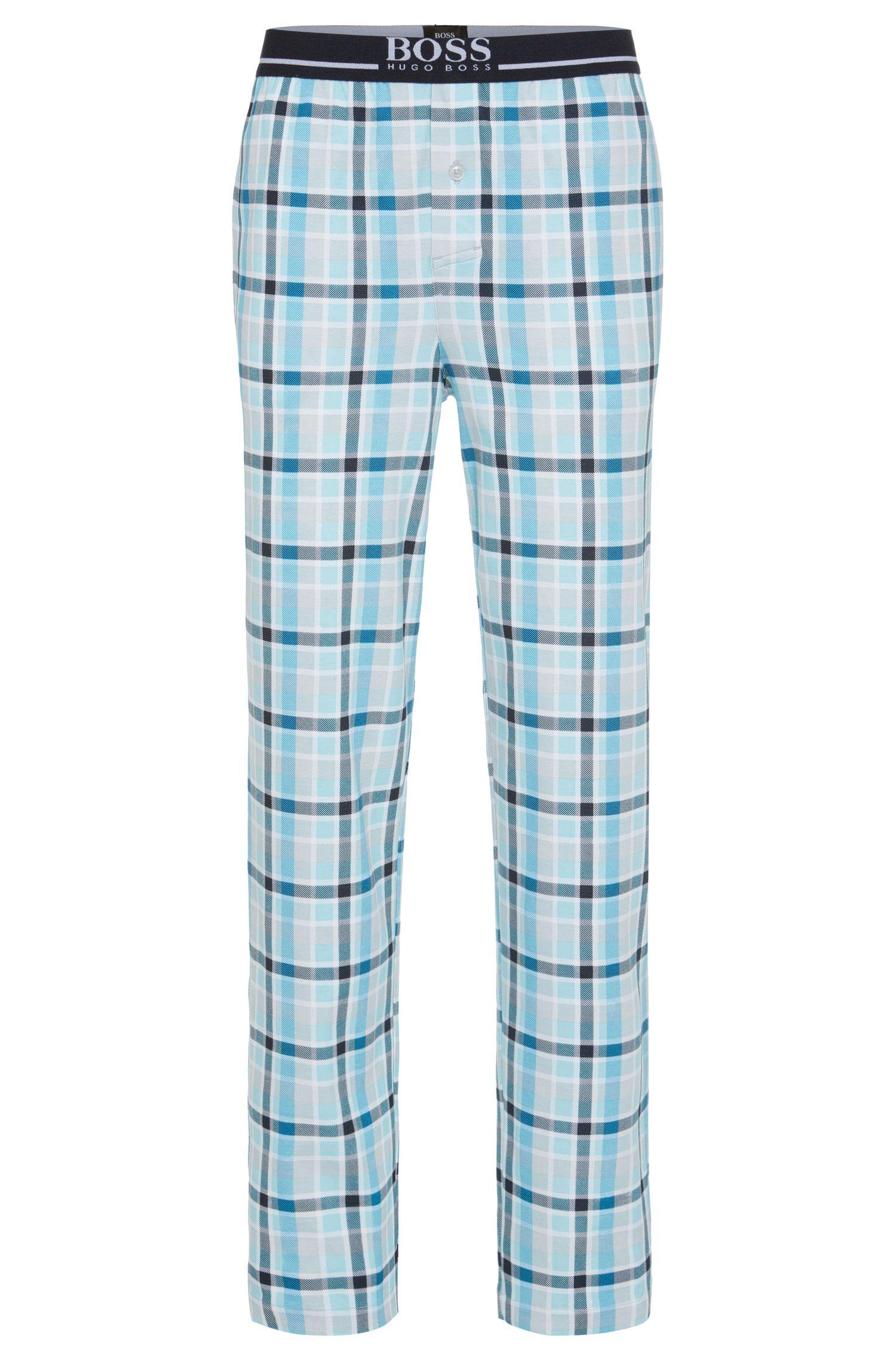 Karierte Pyjamahose aus Baumwolle: 'Long Pant EW Jersey'