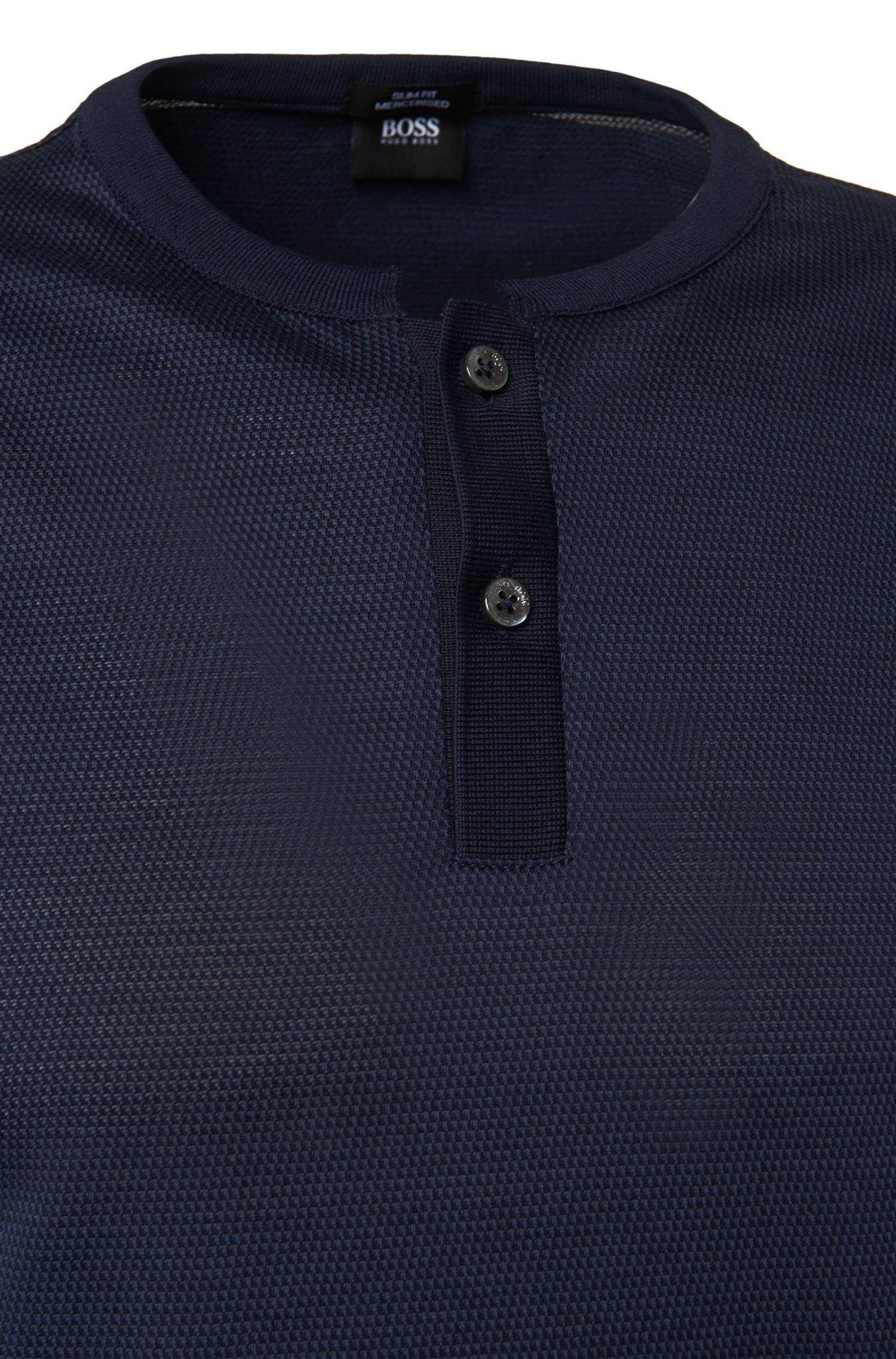 Slim-fit T-shirt van katoen: 'Tiller 02'