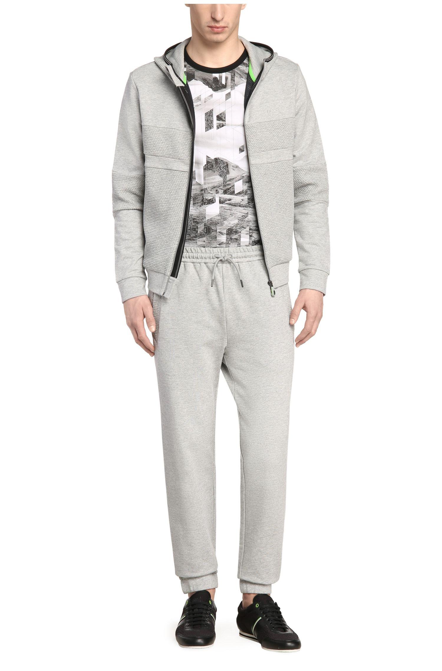 Regular-Fit Sweatshirt-Jacke aus French Terry mit Kapuze: ´Saggy 1`