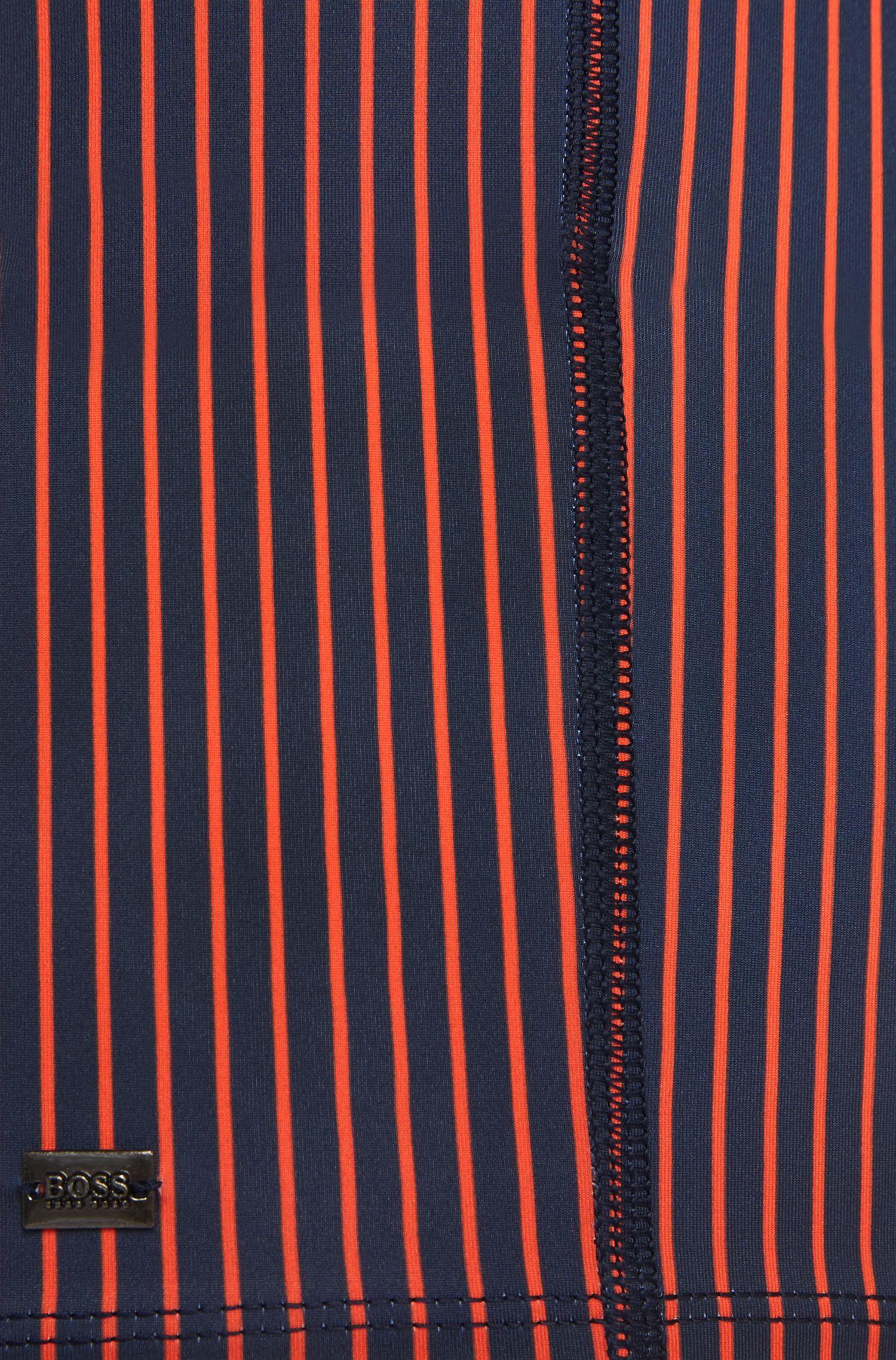 Kurz geschnittene, gestreifte Badehose aus elastischem Material-Mix: 'Barb'
