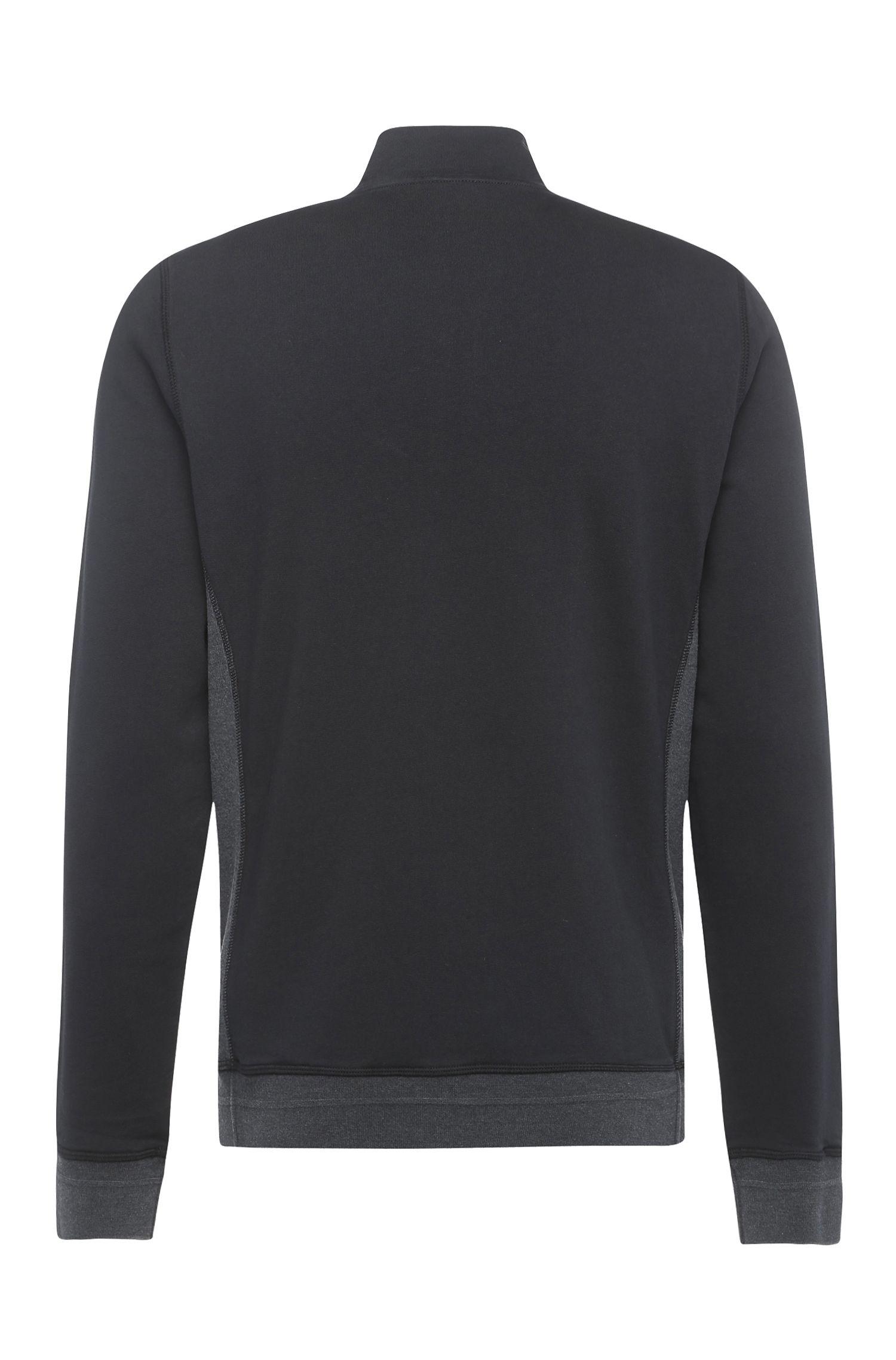 Blouson sweat en coton mélangé, de couleur contrastante sur le devant: «Zimple»
